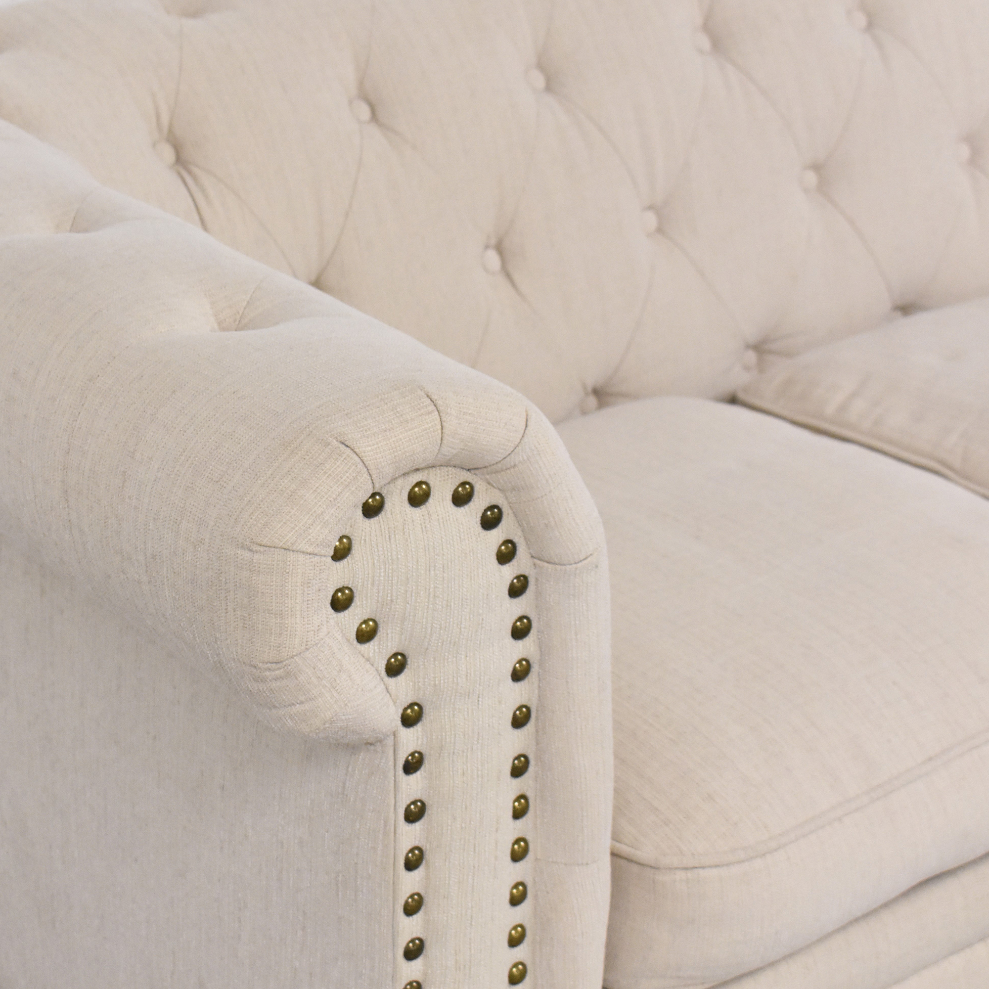 shop Furniture of America Furniture of America Stanford Tufted Sectional Sofa online
