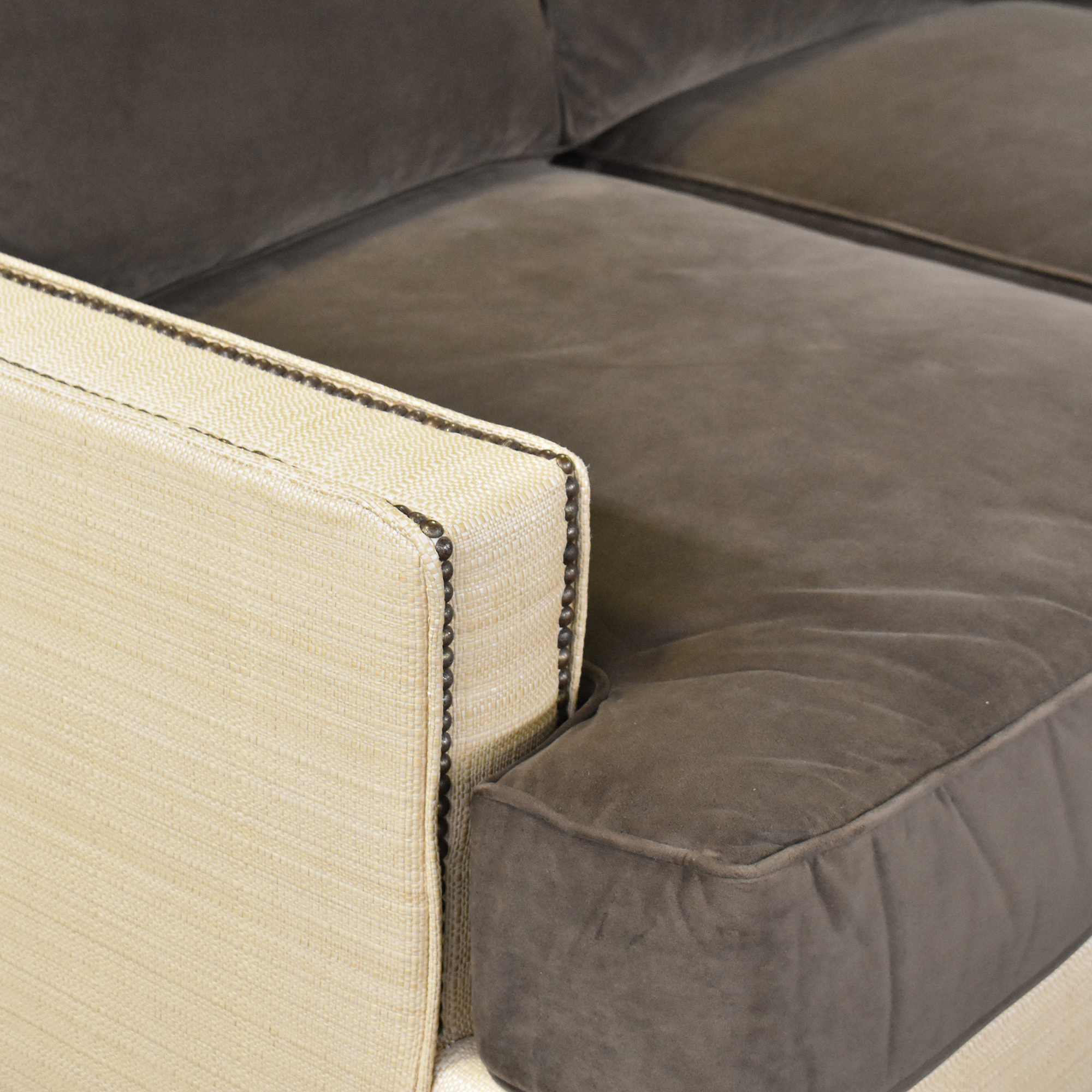 Two Tone U Sectional with Ottoman coupon