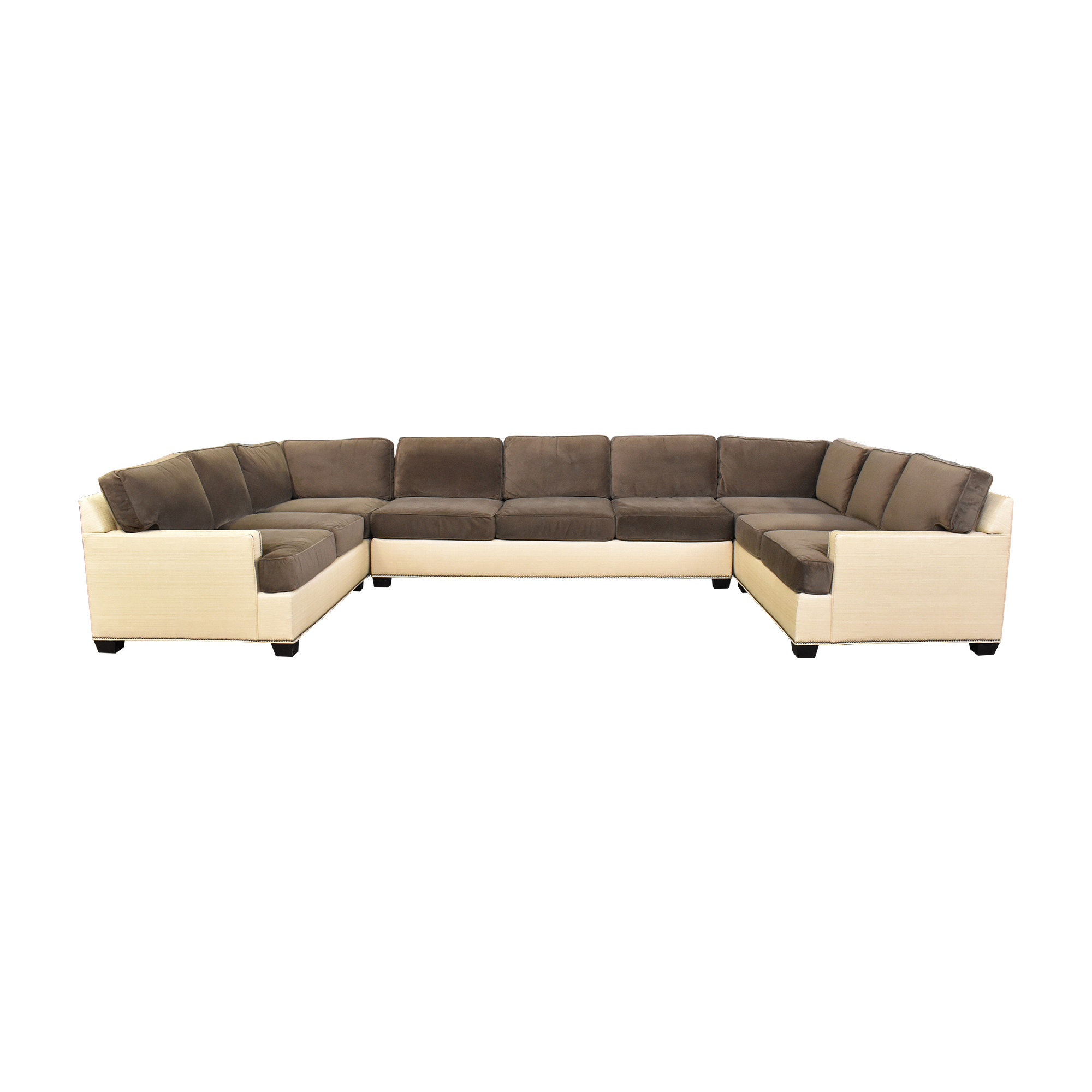 shop Two Tone U Sectional with Ottoman  Sofas