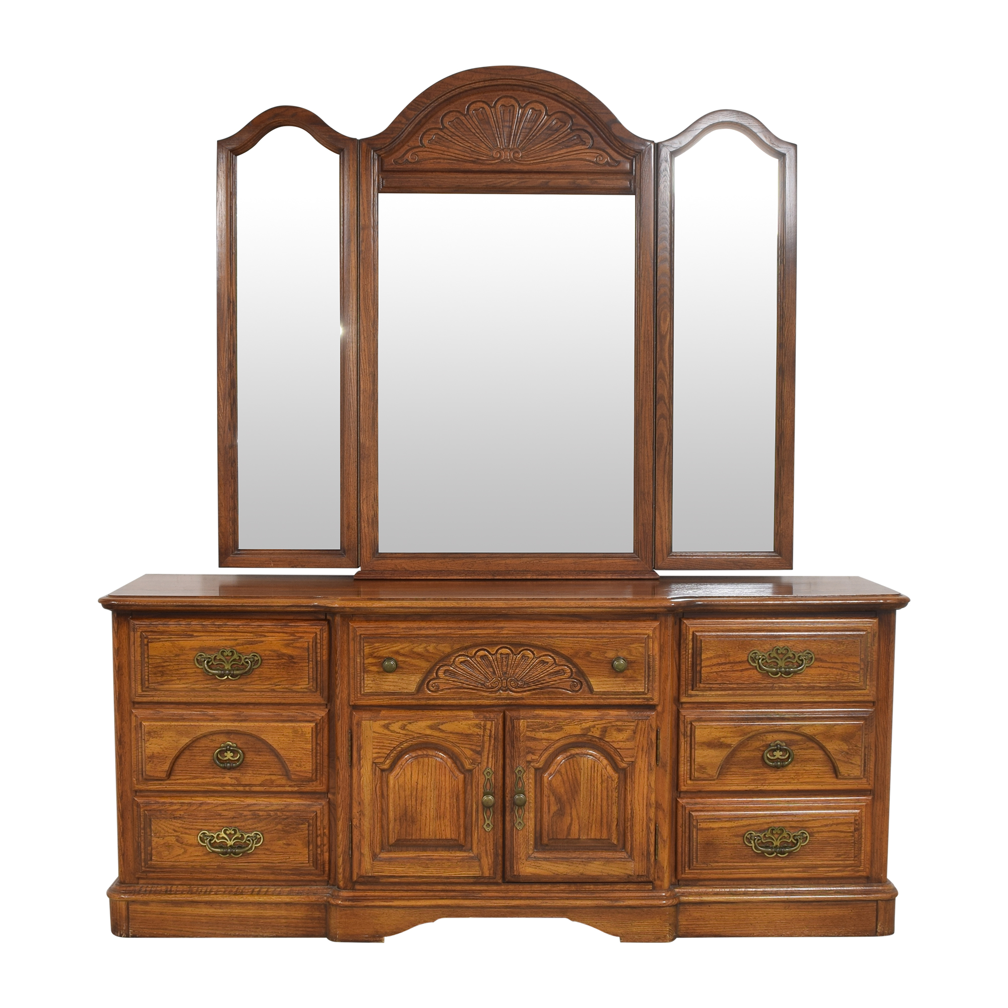 Triple Dresser with Trifold Mirror coupon
