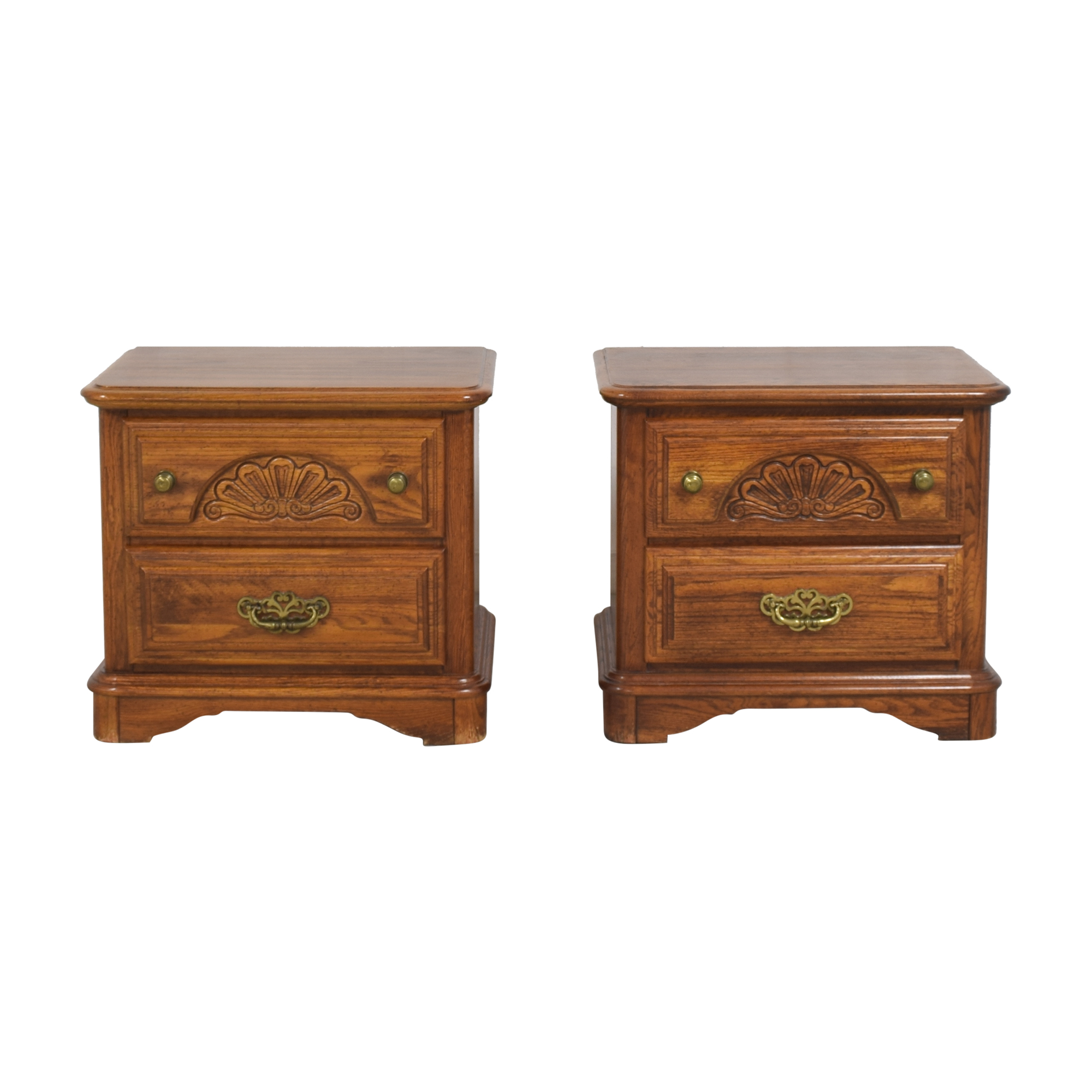 Sumter Cabinet Co. Sumter Cabinet Co. Two Drawer Nightstands End Tables
