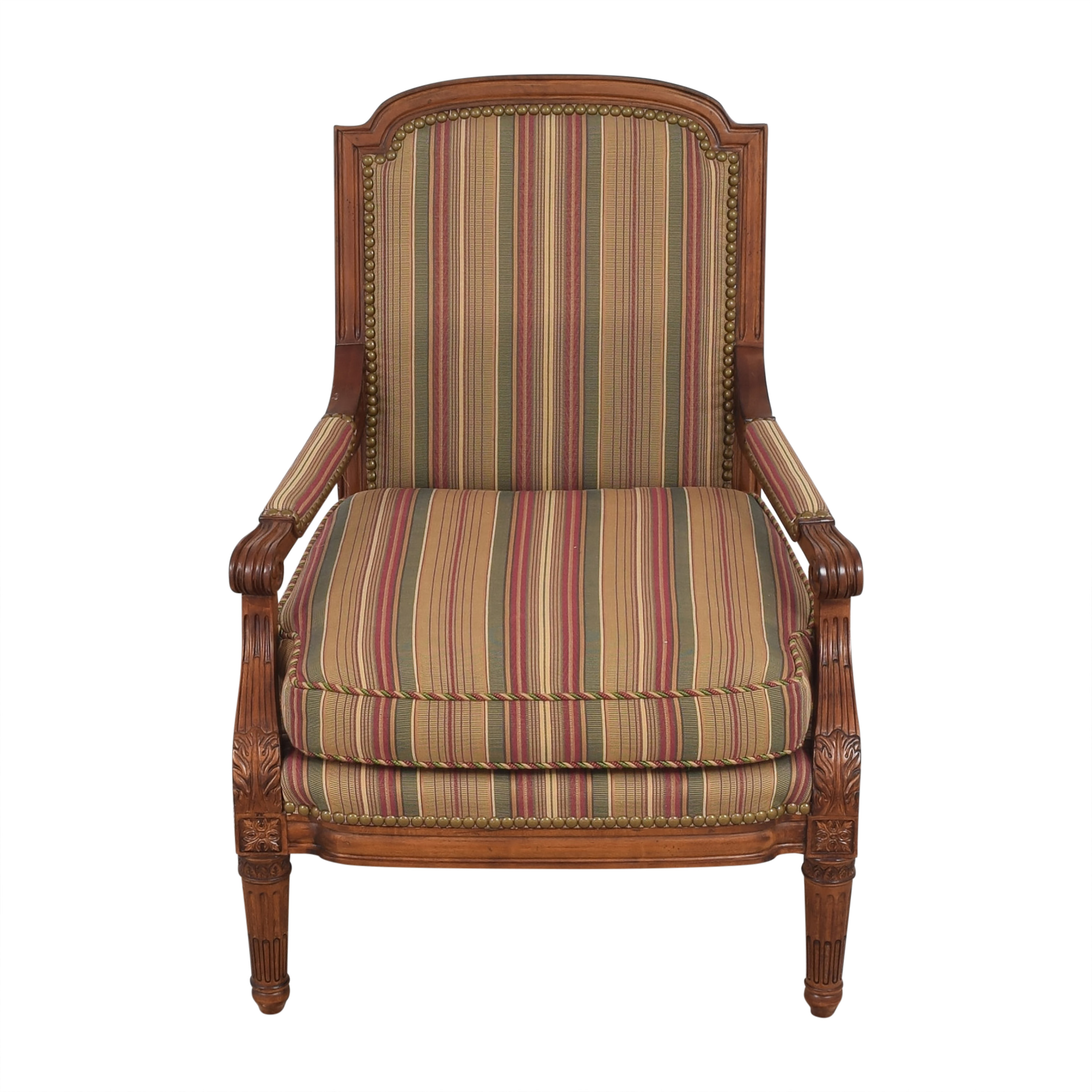 Century Furniture Striped Armchair / Chairs
