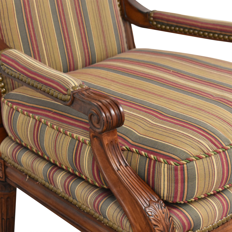 Century Furniture Century Furniture Striped Armchair on sale