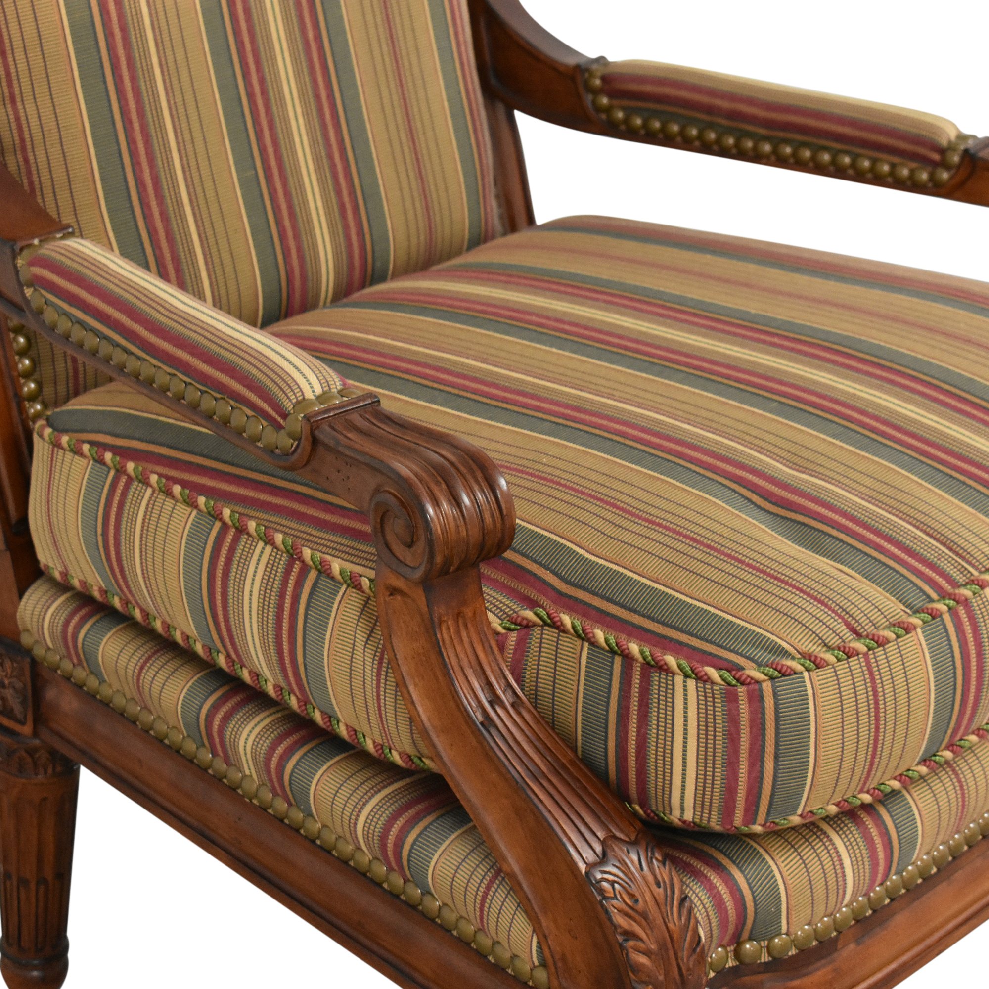 Century Furniture Century Furniture Striped Arm Chair dimensions
