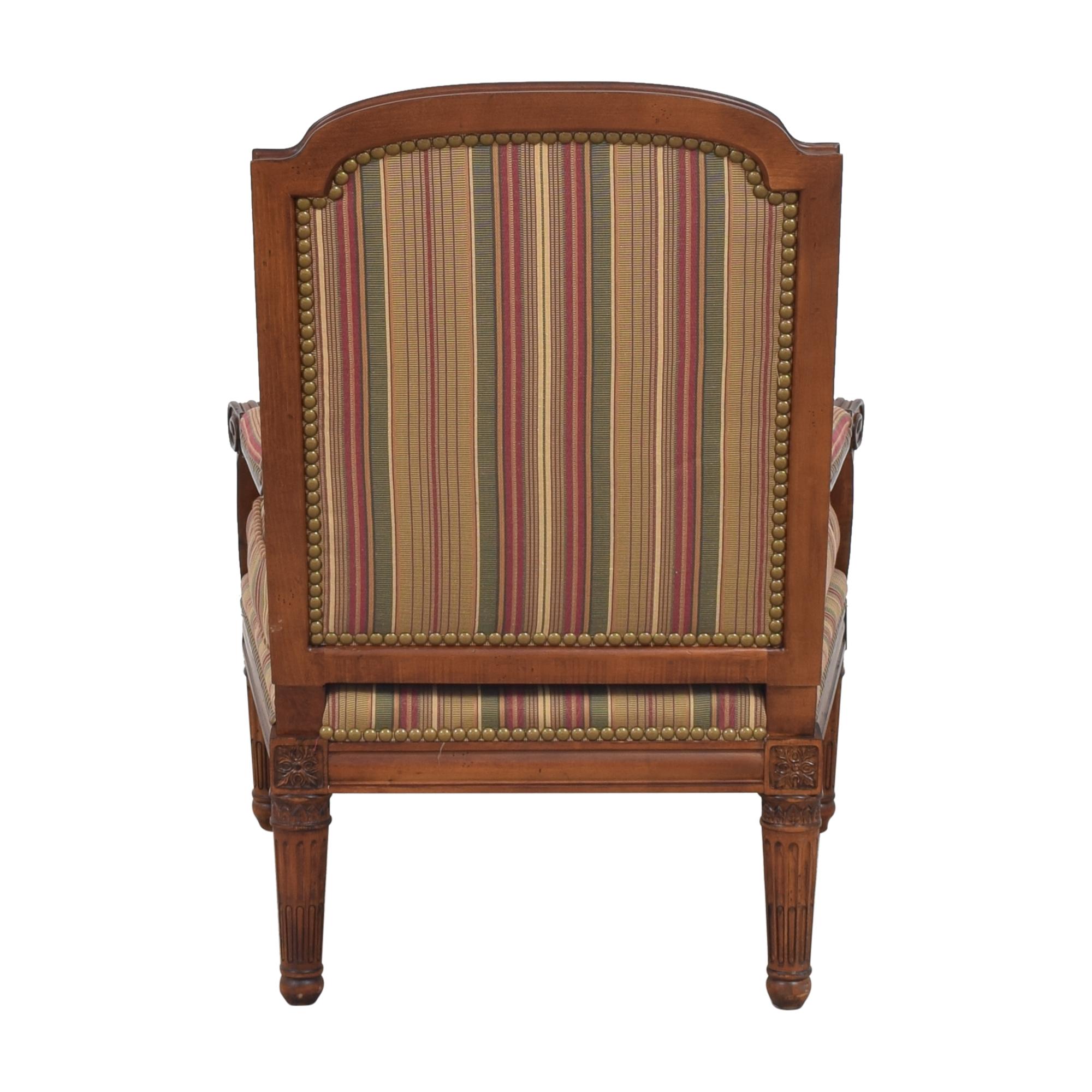 Century Furniture Striped Arm Chair sale
