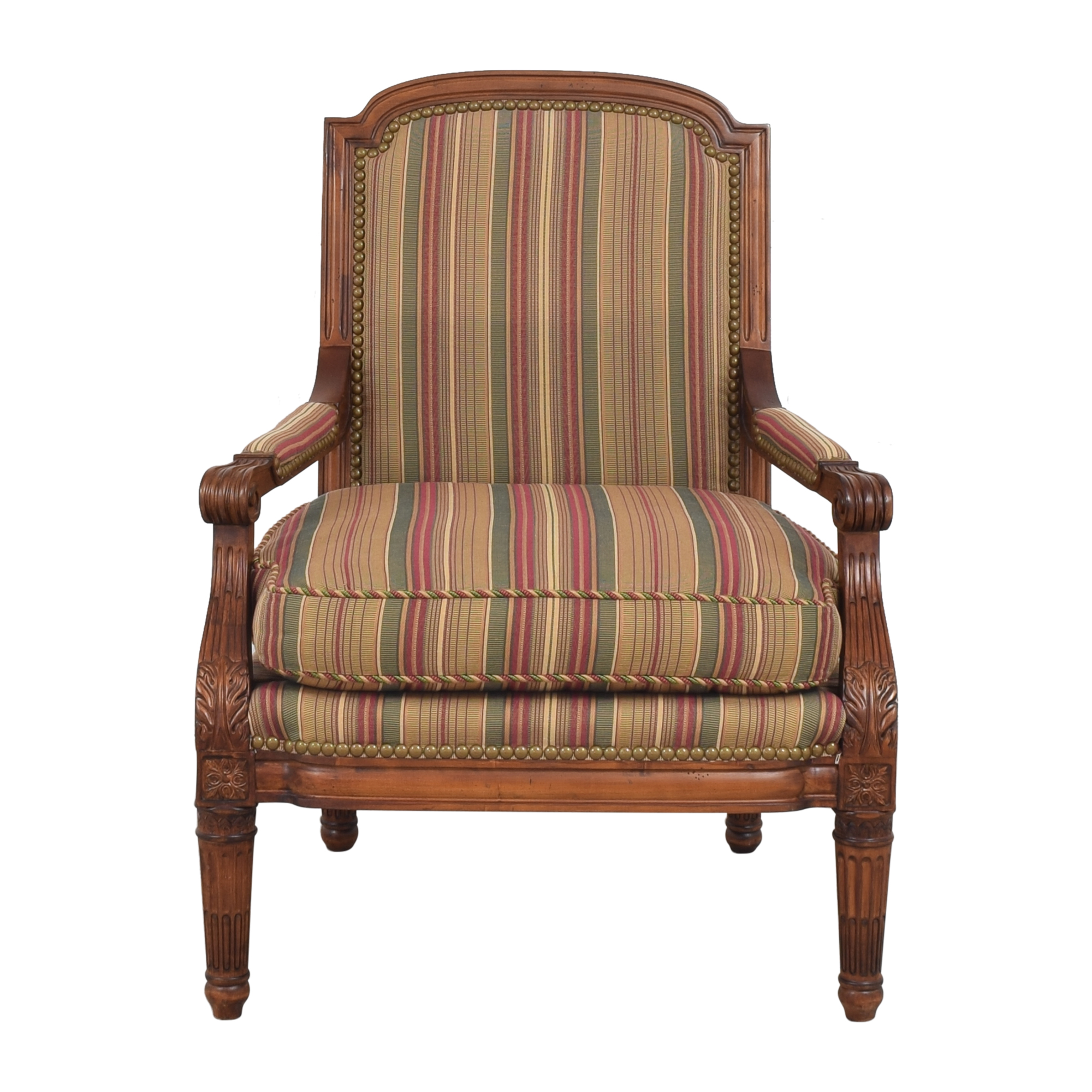 Century Furniture Striped Arm Chair Century Furniture