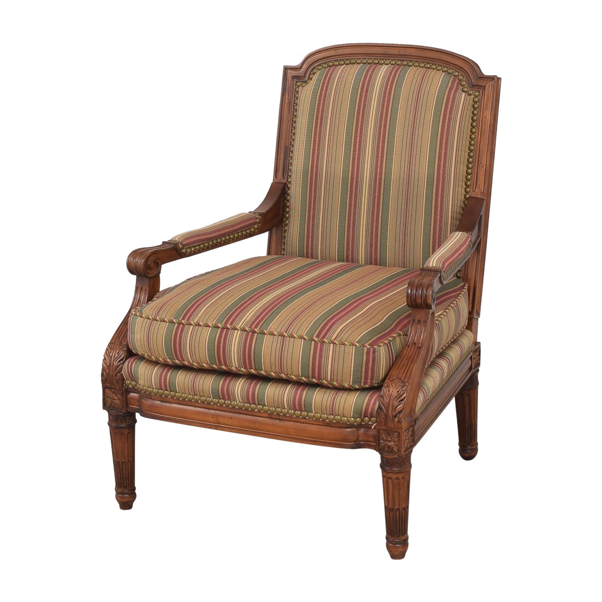 Century Furniture Century Furniture Striped Arm Chair ct
