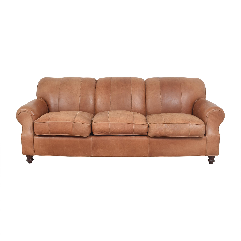 Roll Arm Three Cushion Sofa second hand