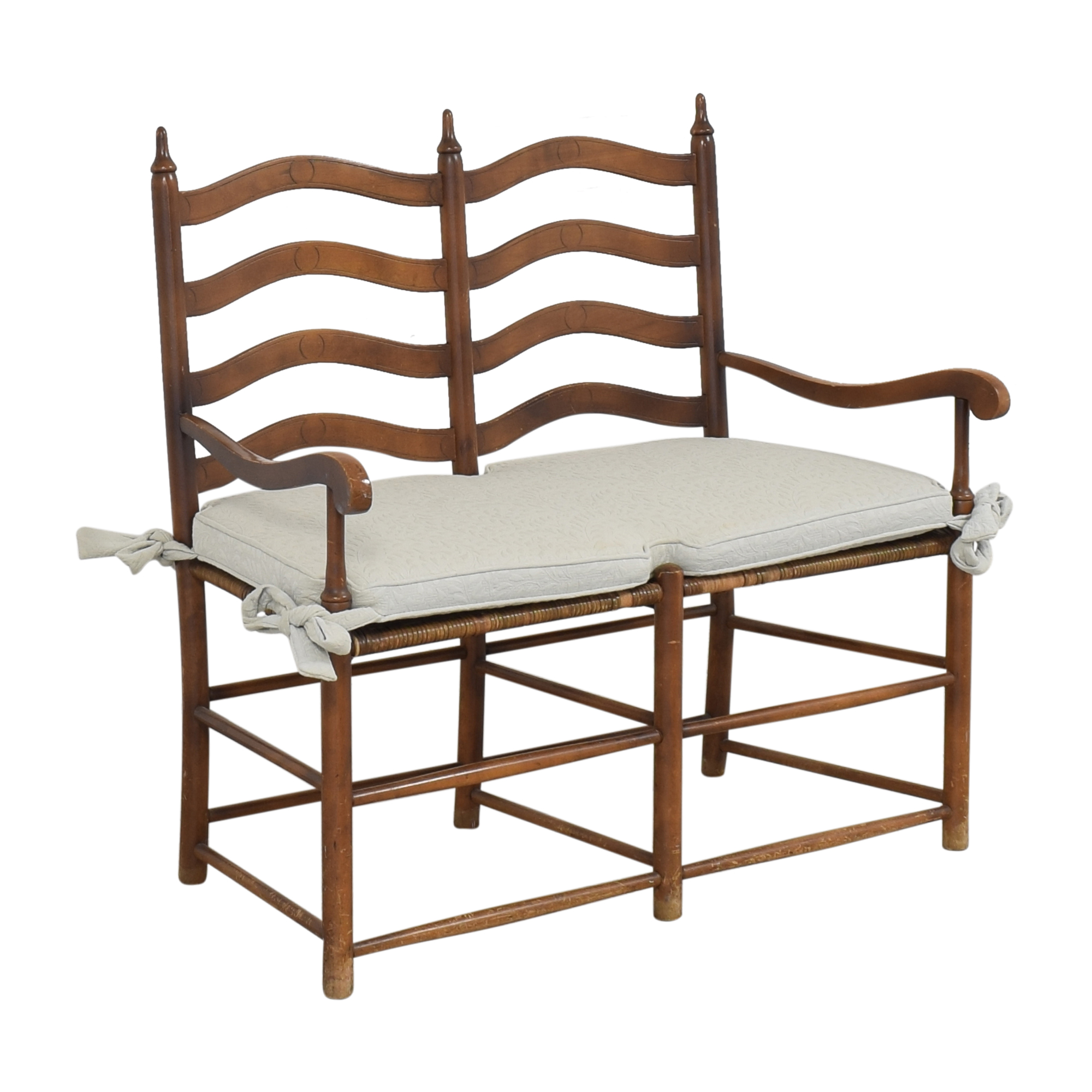 Ladderback Settee Bench with Cushion coupon