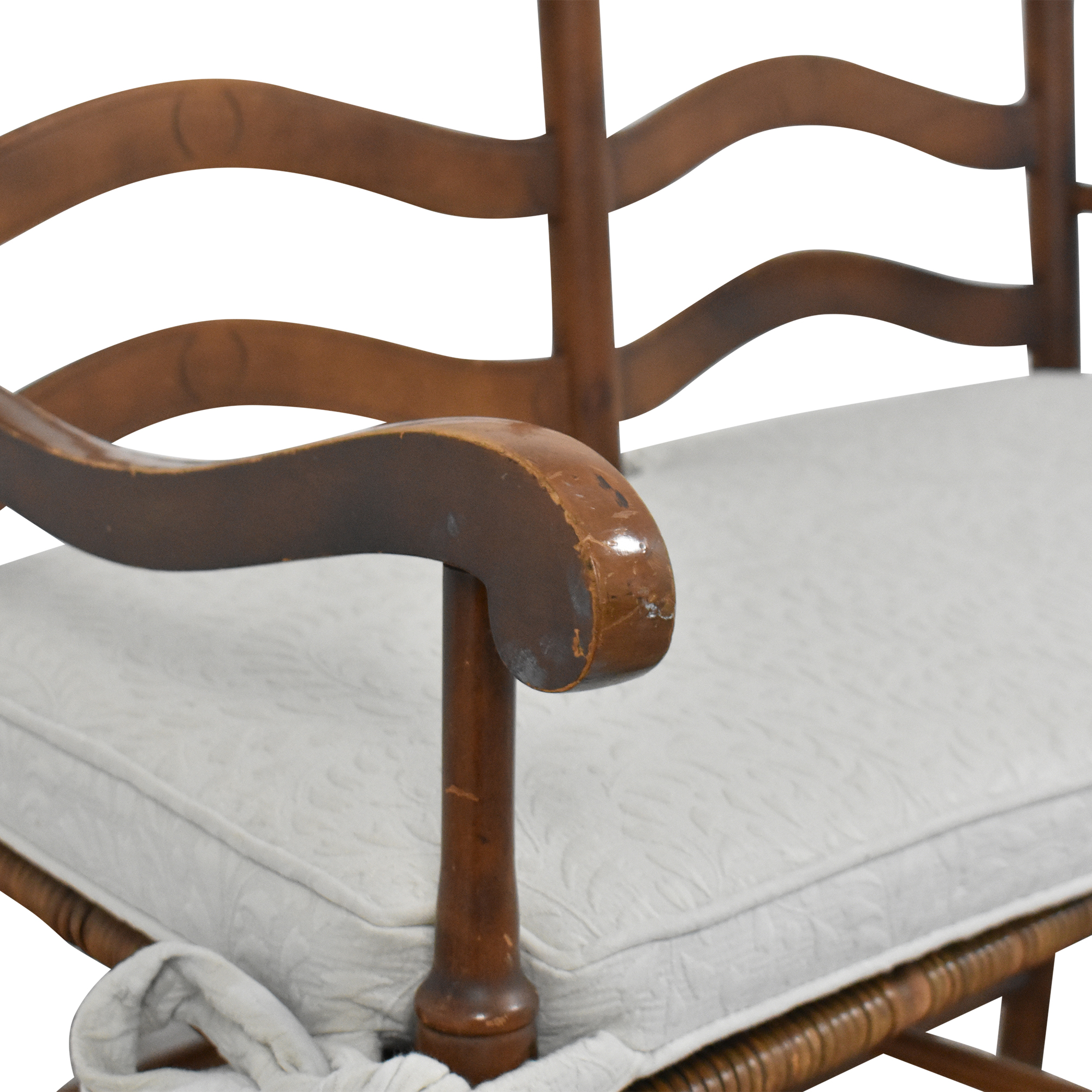 Ladderback Settee Bench with Cushion