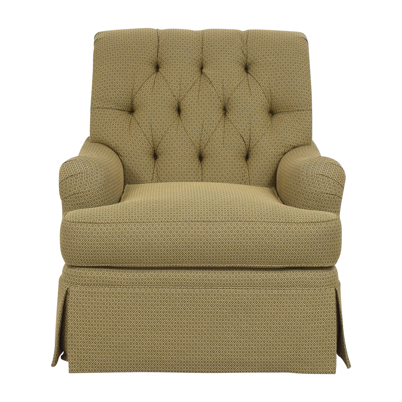 Henredon Furniture Henredon Furniture Scroll Back Accent Chair brown