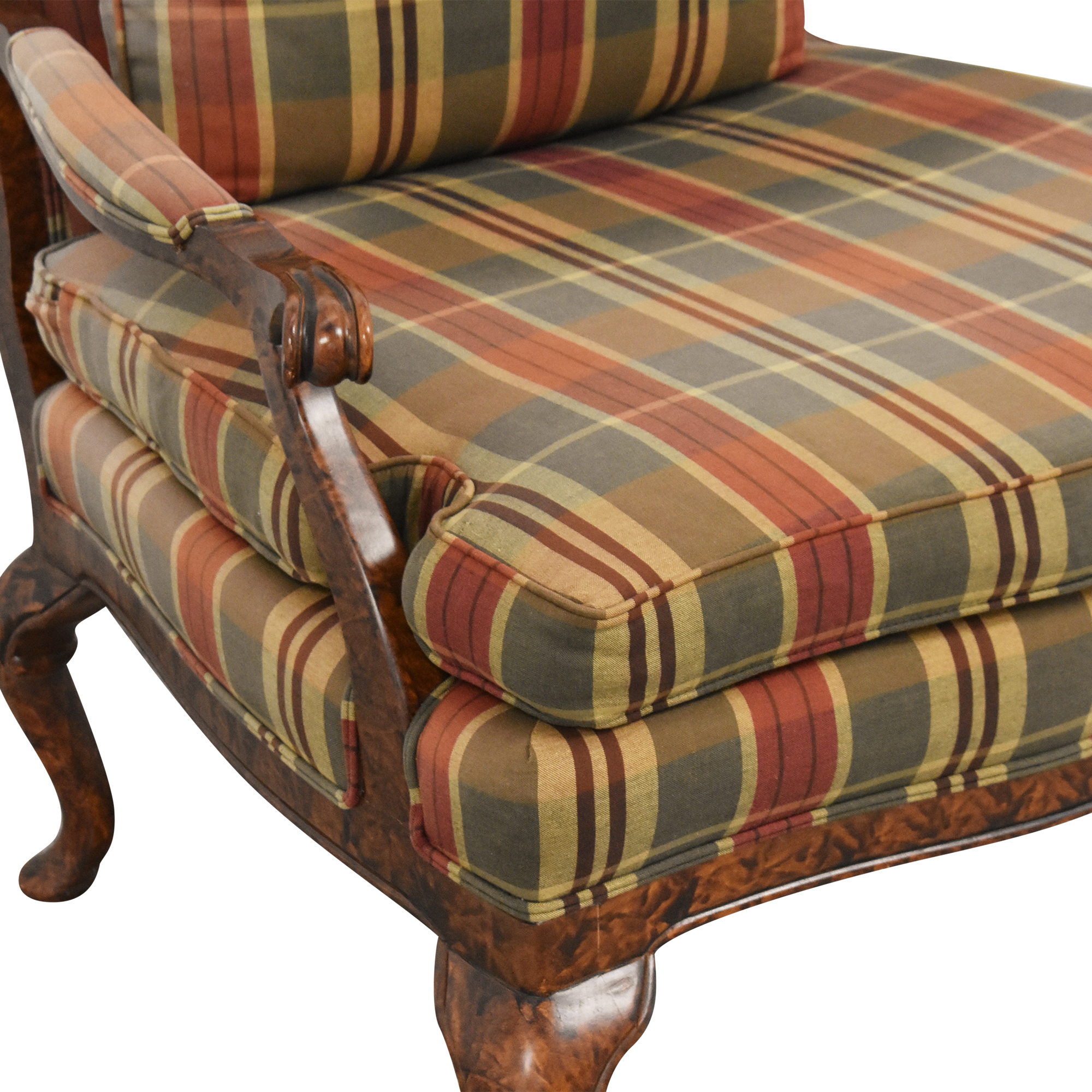 Taylor King Taylor King Plaid Accent Chair discount