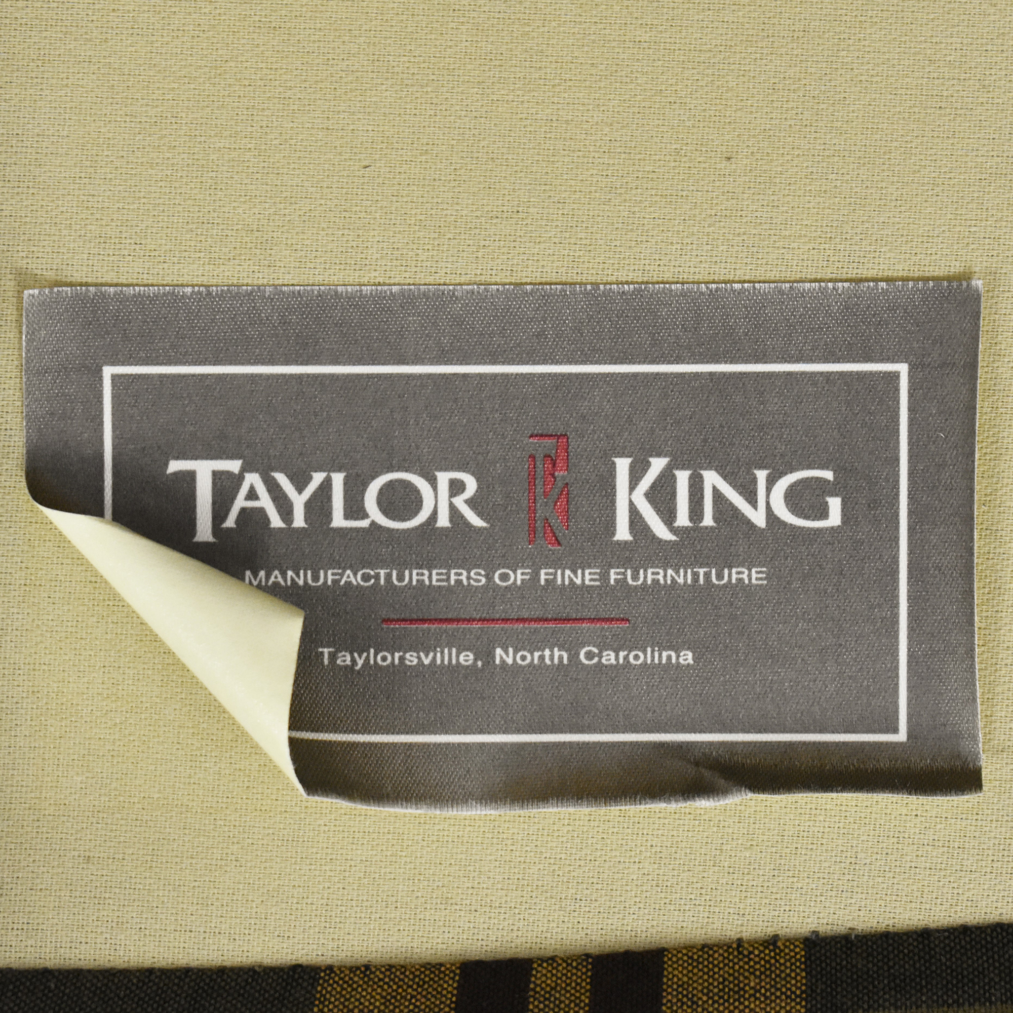 Taylor King Plaid Accent Chair Taylor King