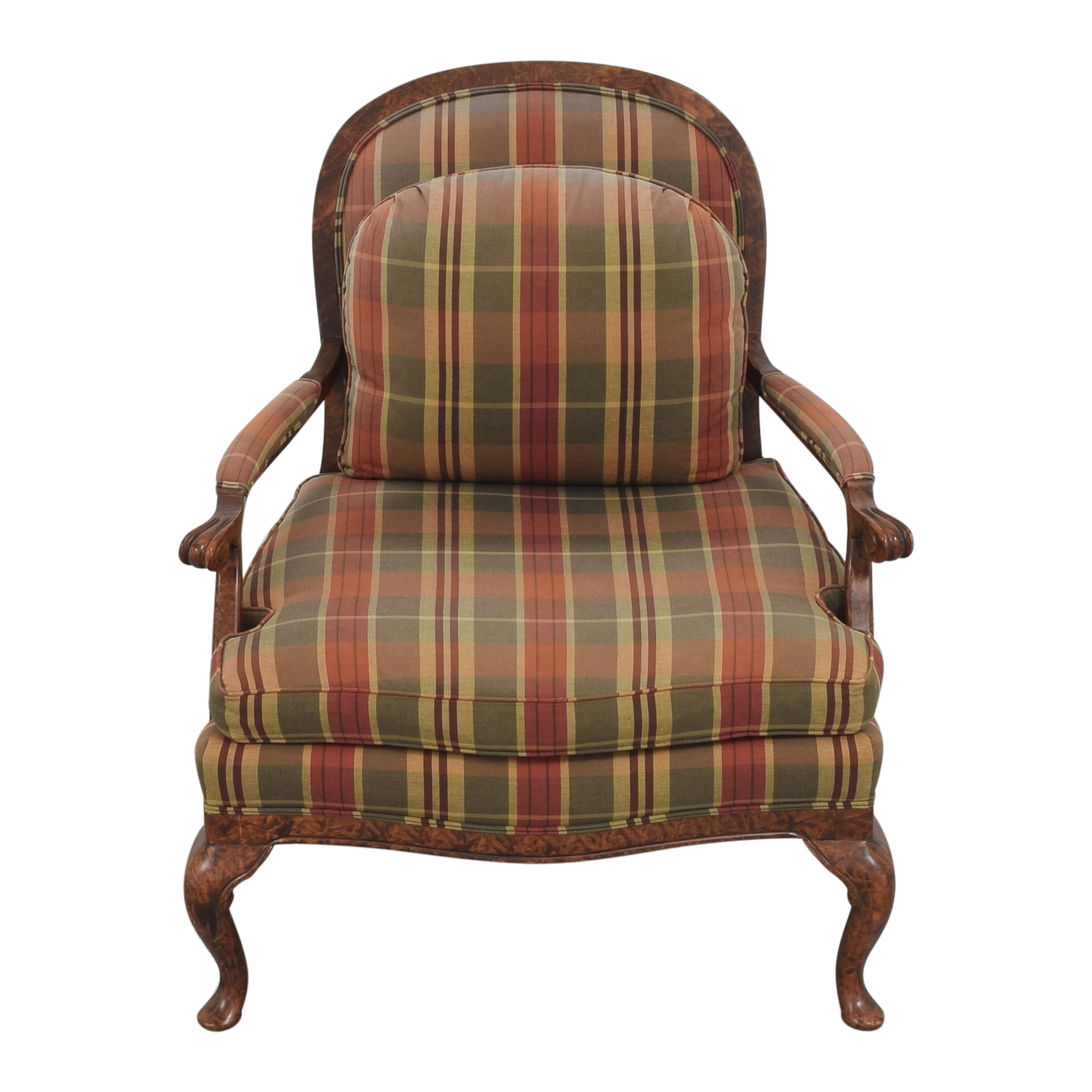 Taylor King Taylor King Plaid Accent Chair