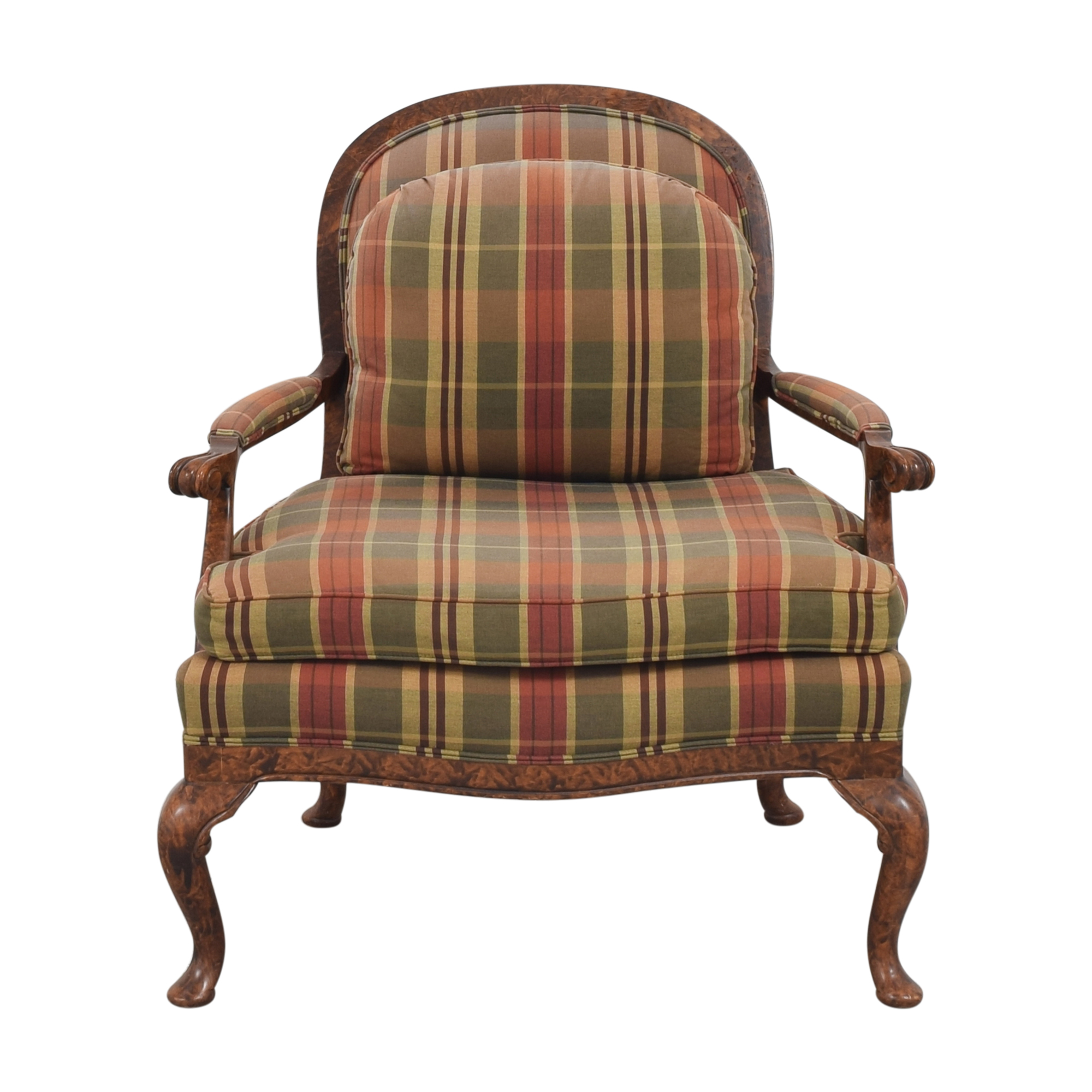 Taylor King Taylor King Plaid Accent Chair second hand