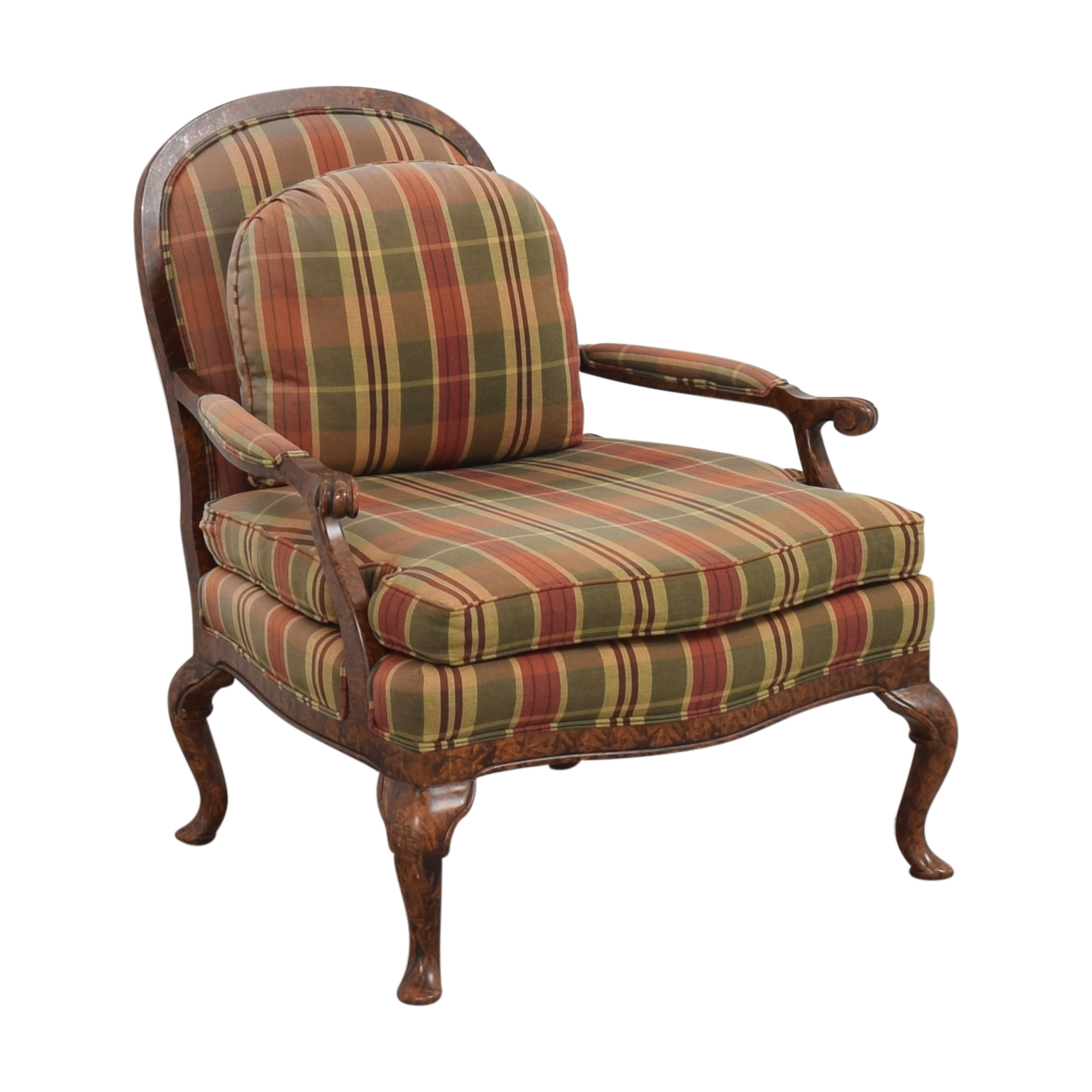 shop Taylor King Plaid Accent Chair Taylor King Chairs