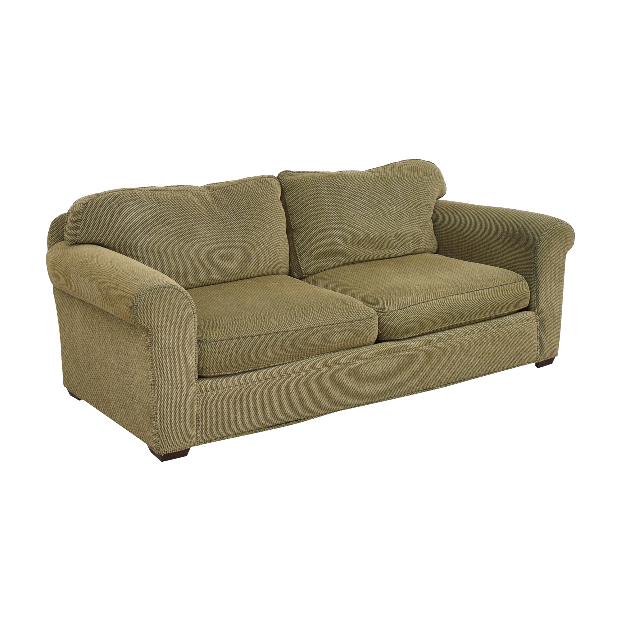 Crate & Barrel Crate & Barrel Two Cushion Sofa green