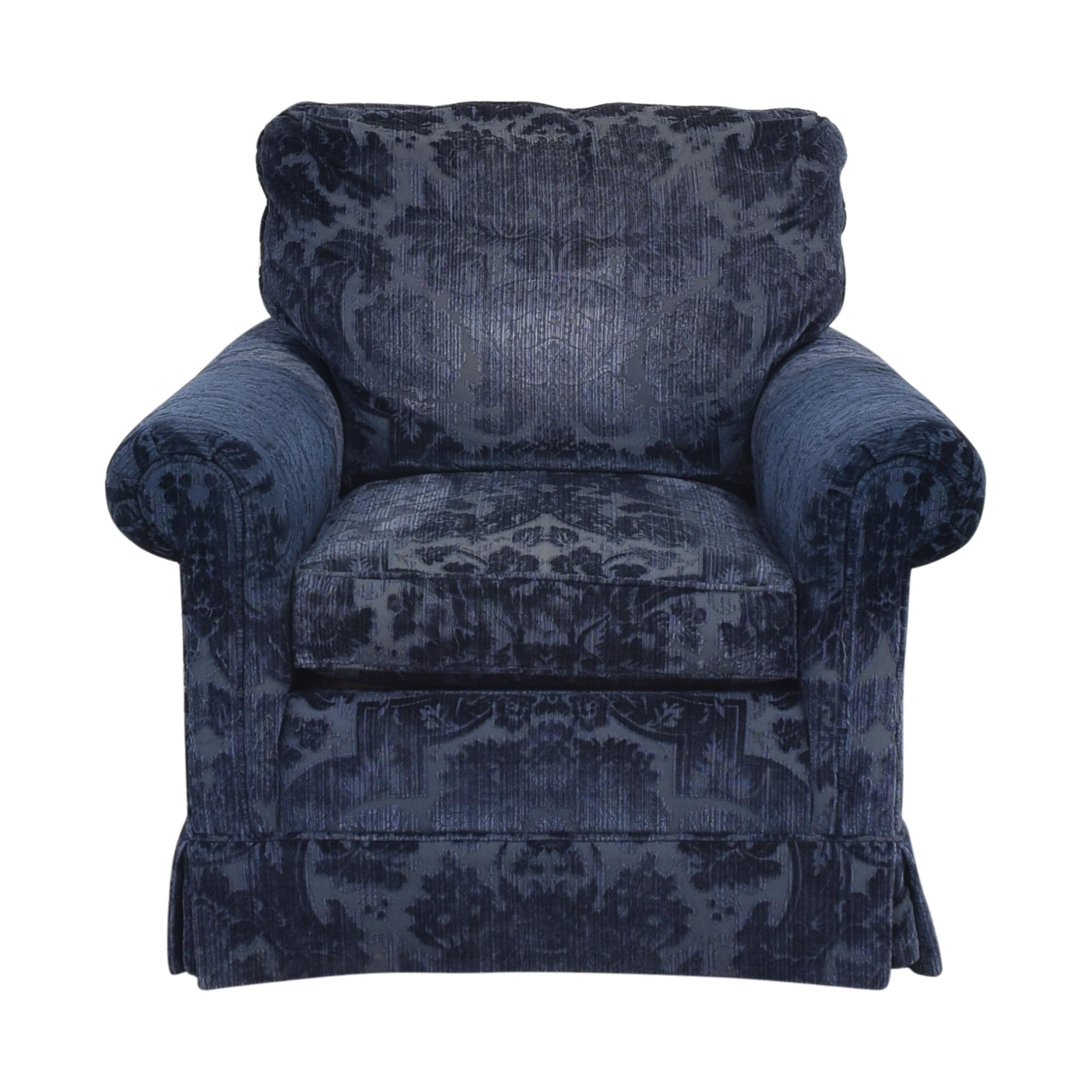 Ralph Lauren Home Ralph Lauren Home Roll Arm Accent Chair dark blue