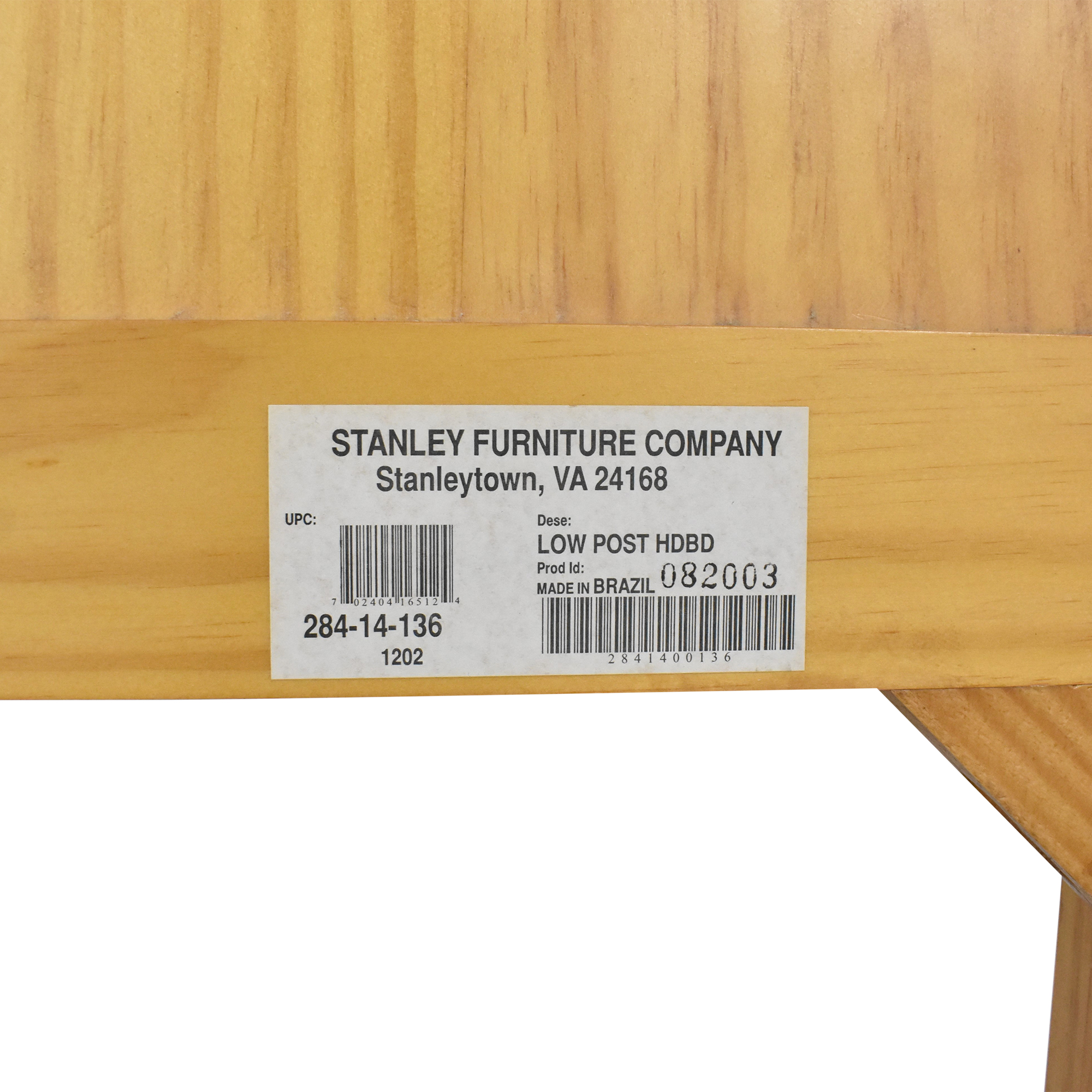 buy Stanley Furniture Low Post Twin Headboard Stanley Furniture