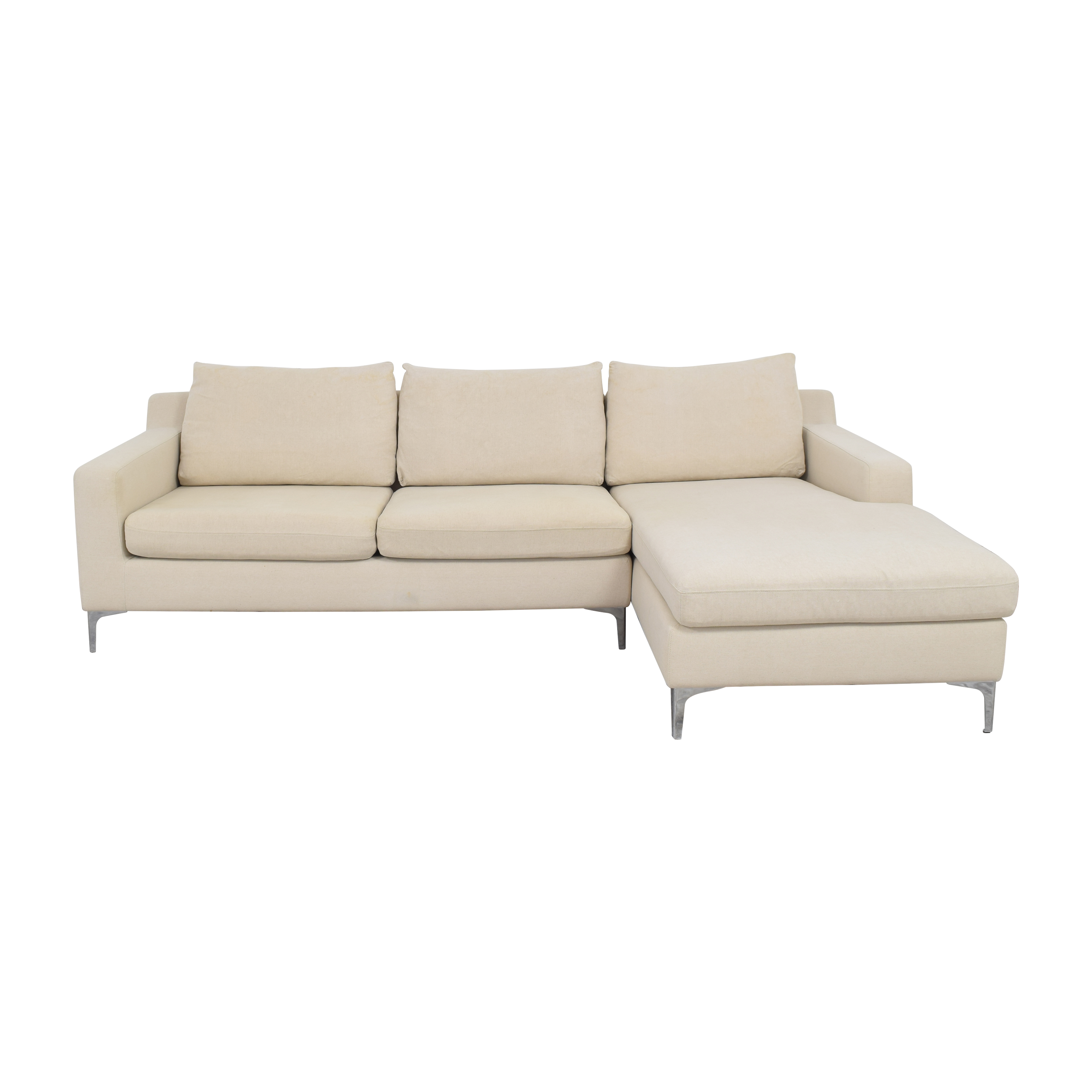 Interior Define Interior Define Sloan Sectional Sofa with Chaise nj