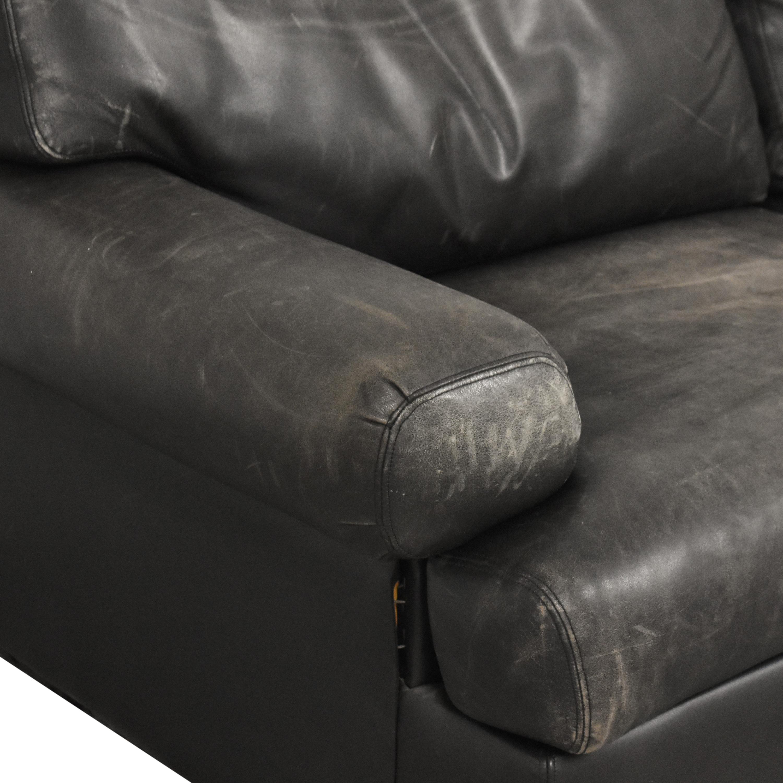 Metropolitan Furniture Metropolitan Furniture Corporation Two Cushion Sofa black