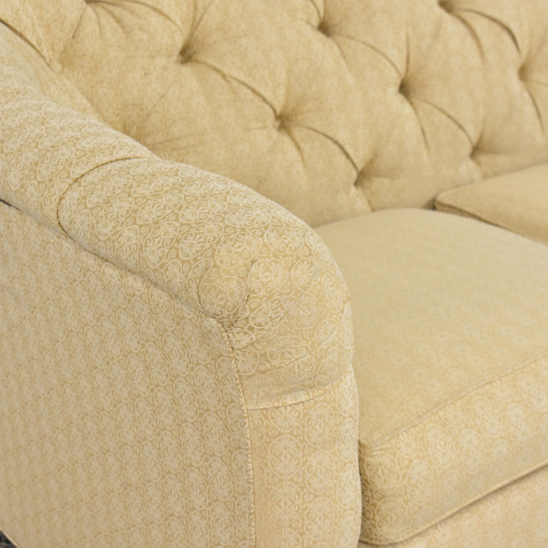 Thomasville Thomasville Tufted Flared Arm Sofa discount