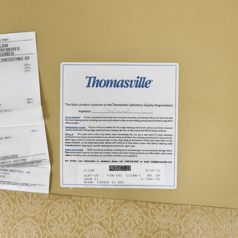 buy Thomasville Tufted Flared Arm Sofa Thomasville Sofas