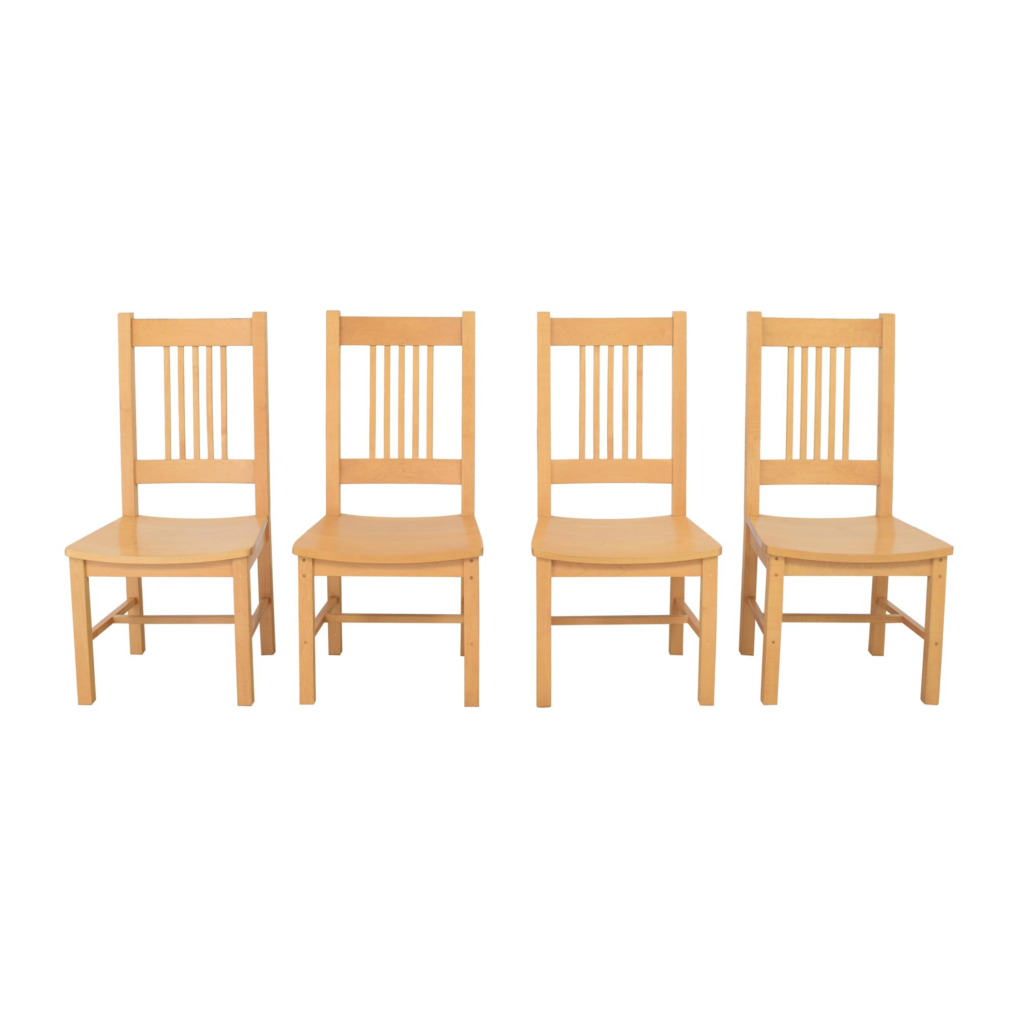 shop Pompanoosuc Mills Brandon Mission Dining Chairs  Pompanoosuc Mills Chairs