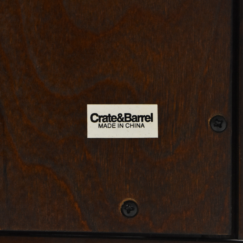 Crate & Barrel Crate & Barrel Kingston Media Stand dark brown