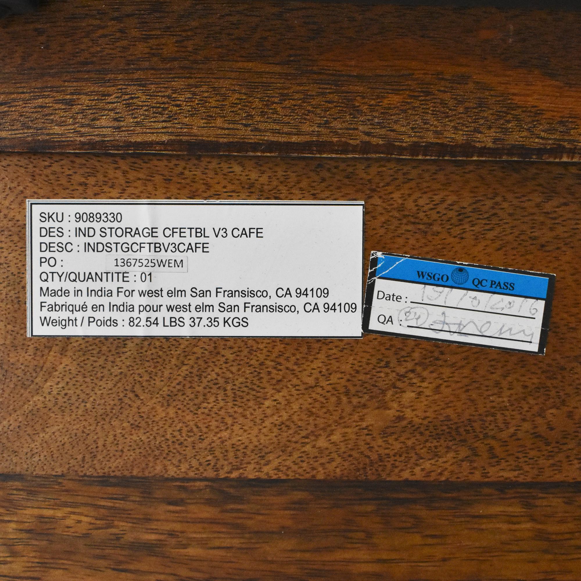 buy West Elm West Elm Industrial Storage Pop-Up Coffee Table online