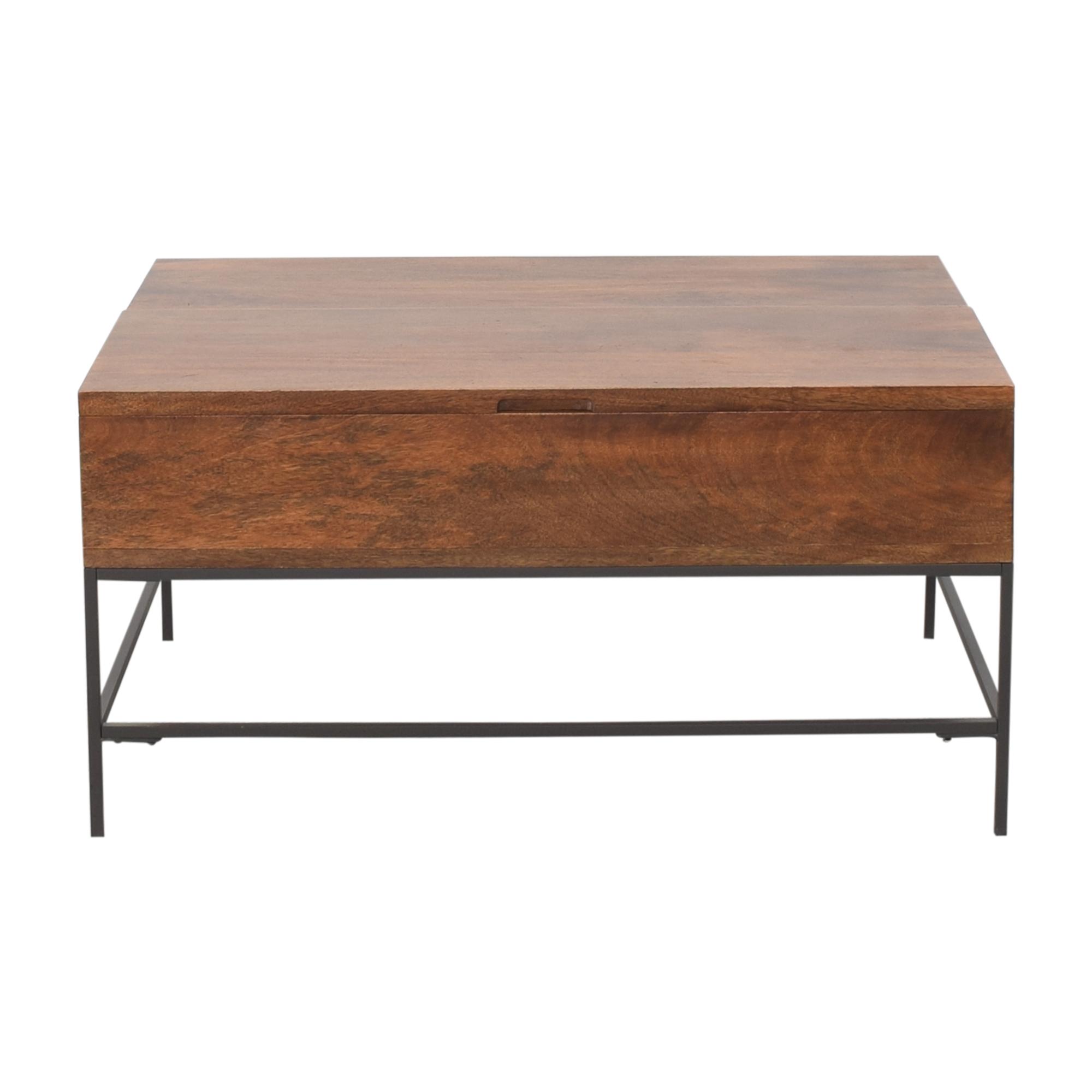 buy West Elm Industrial Storage Pop-Up Coffee Table West Elm Coffee Tables