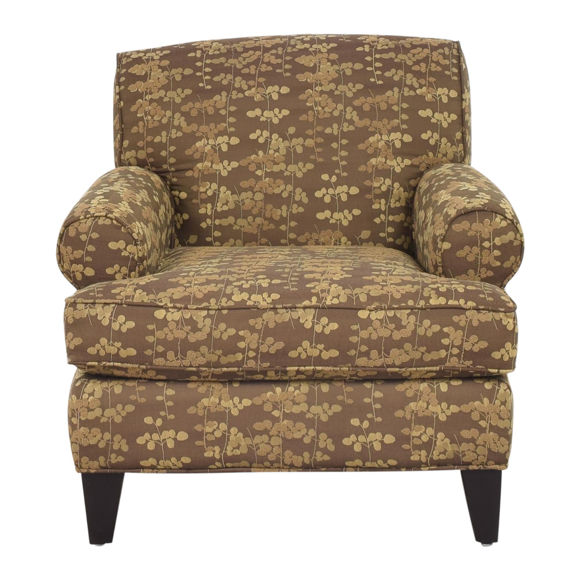 Macy's Macy's Roll Arm Club Chair dimensions