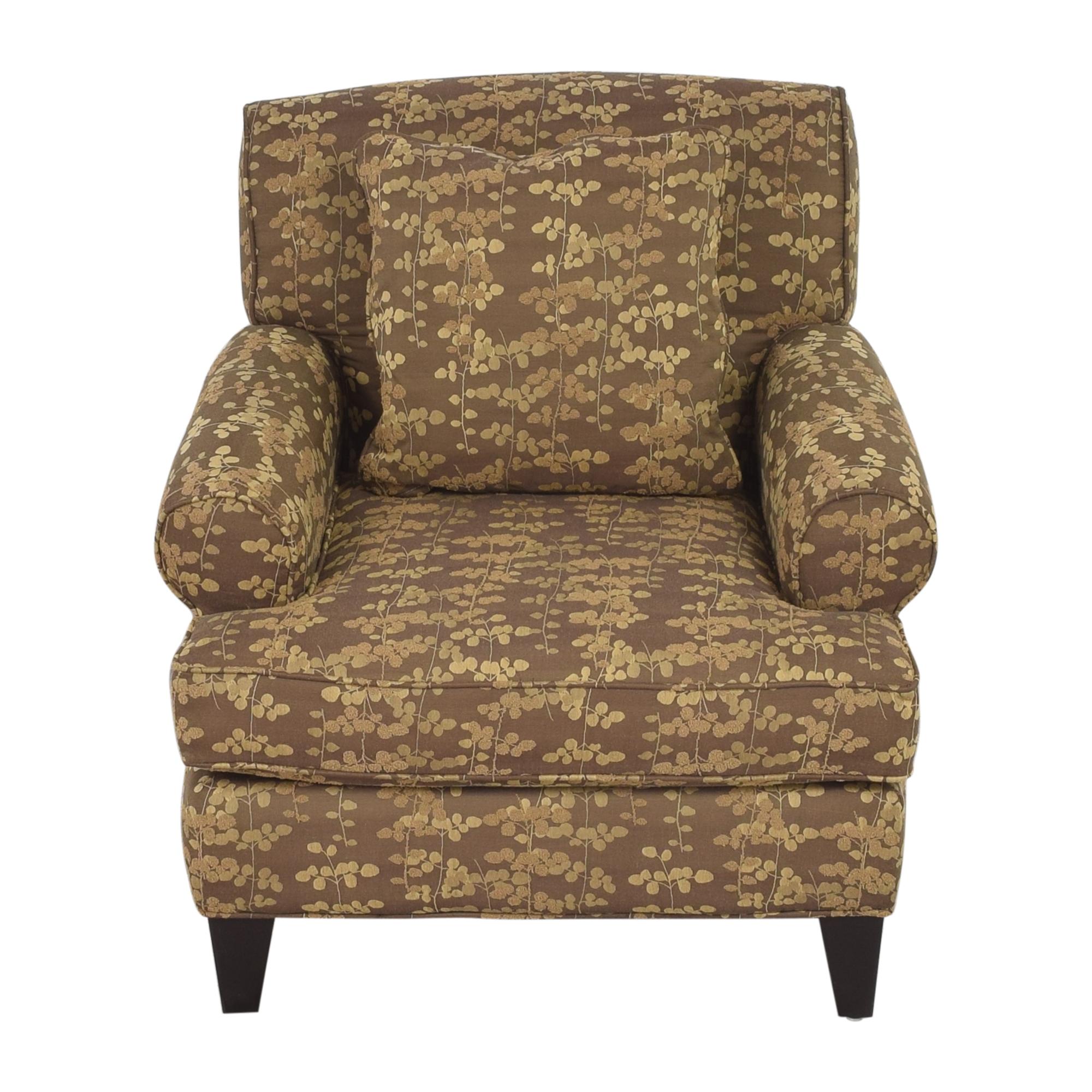 Macy's Macy's Roll Arm Club Chair Chairs