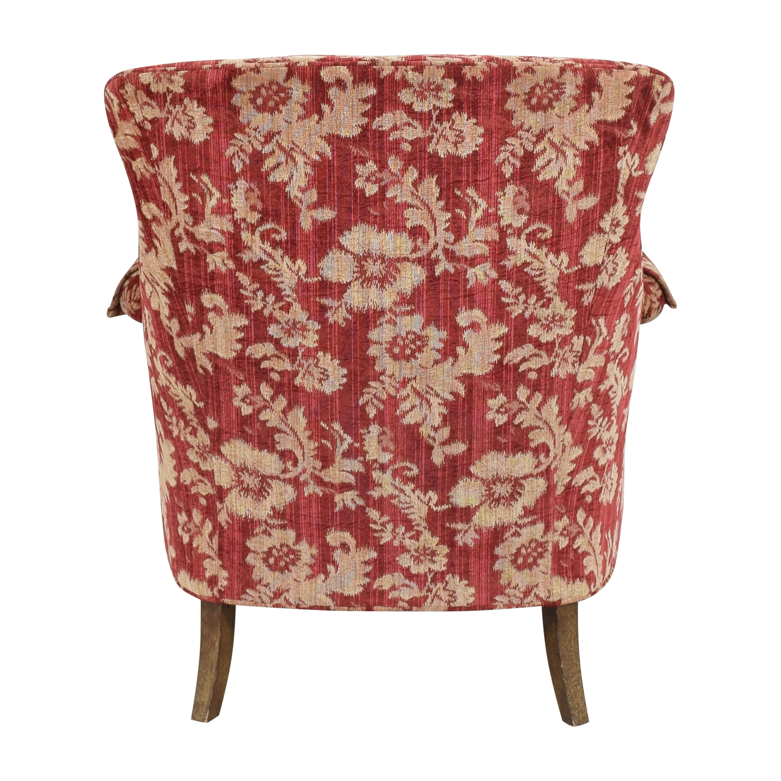 Drexel Heritage Drexel Heritage Custom Wingback Accent Chair red and cream