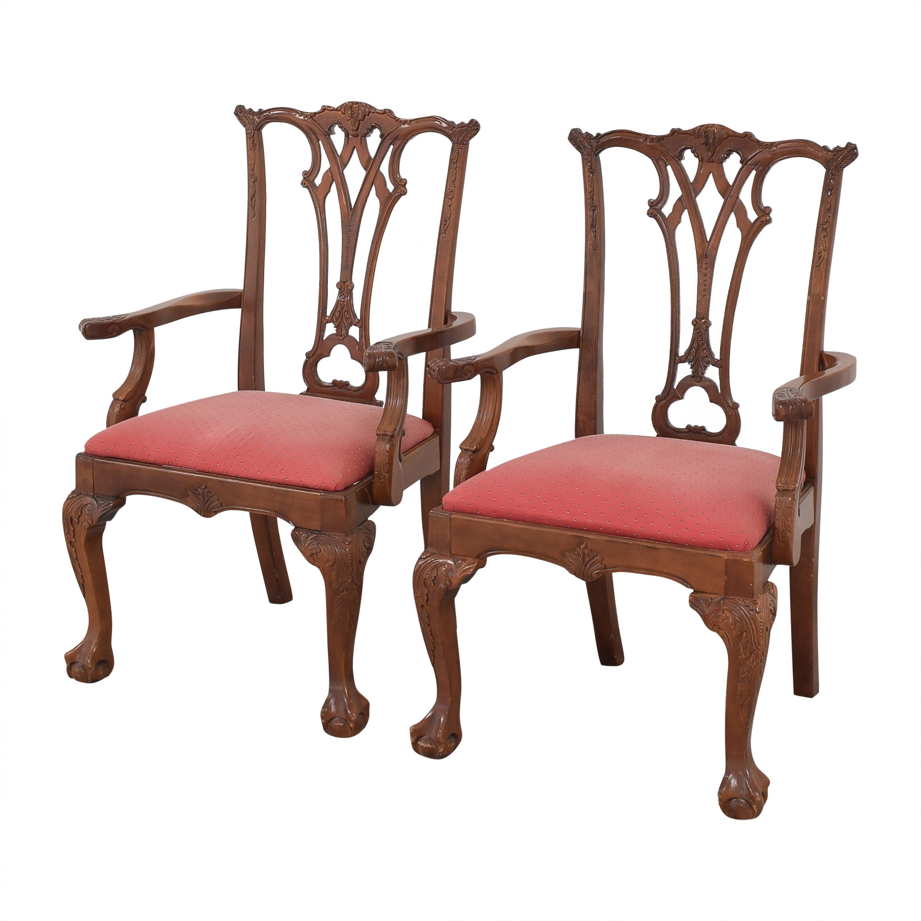 Chippendale-Style Dining Arm Chairs ma