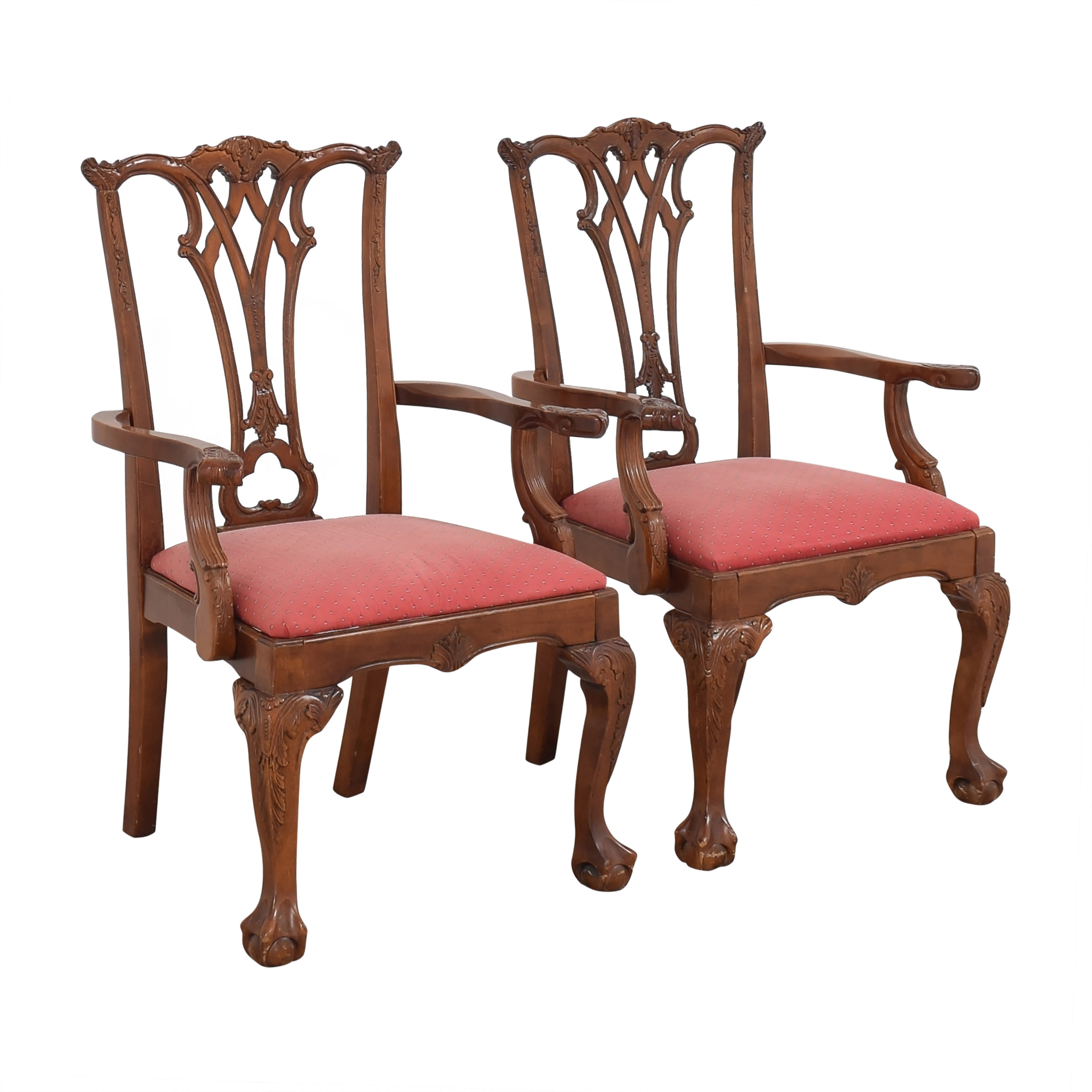 Chippendale-Style Dining Arm Chairs sale