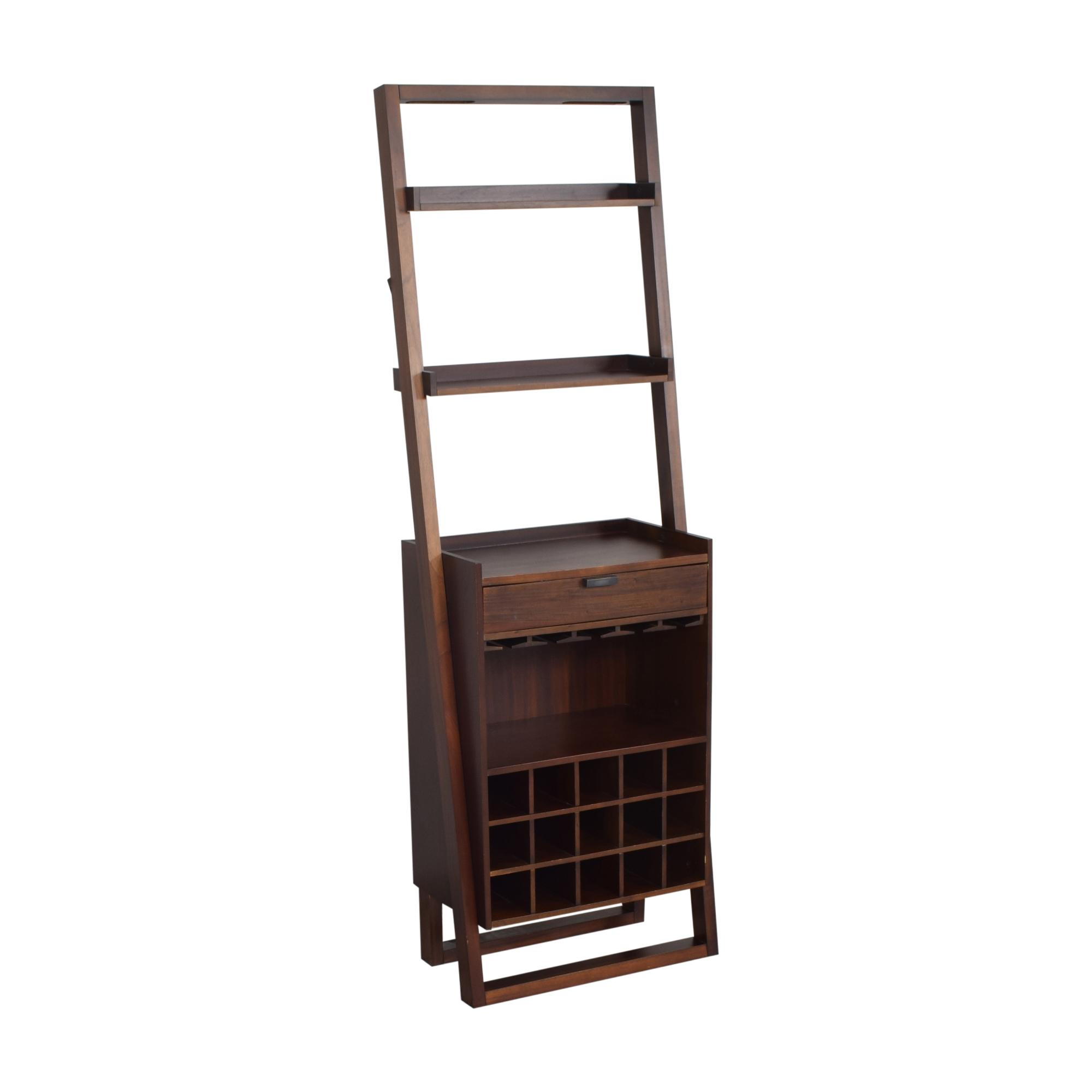 Crate & Barrel Crate & Barrel Sloane Leaning Wine Bar Storage