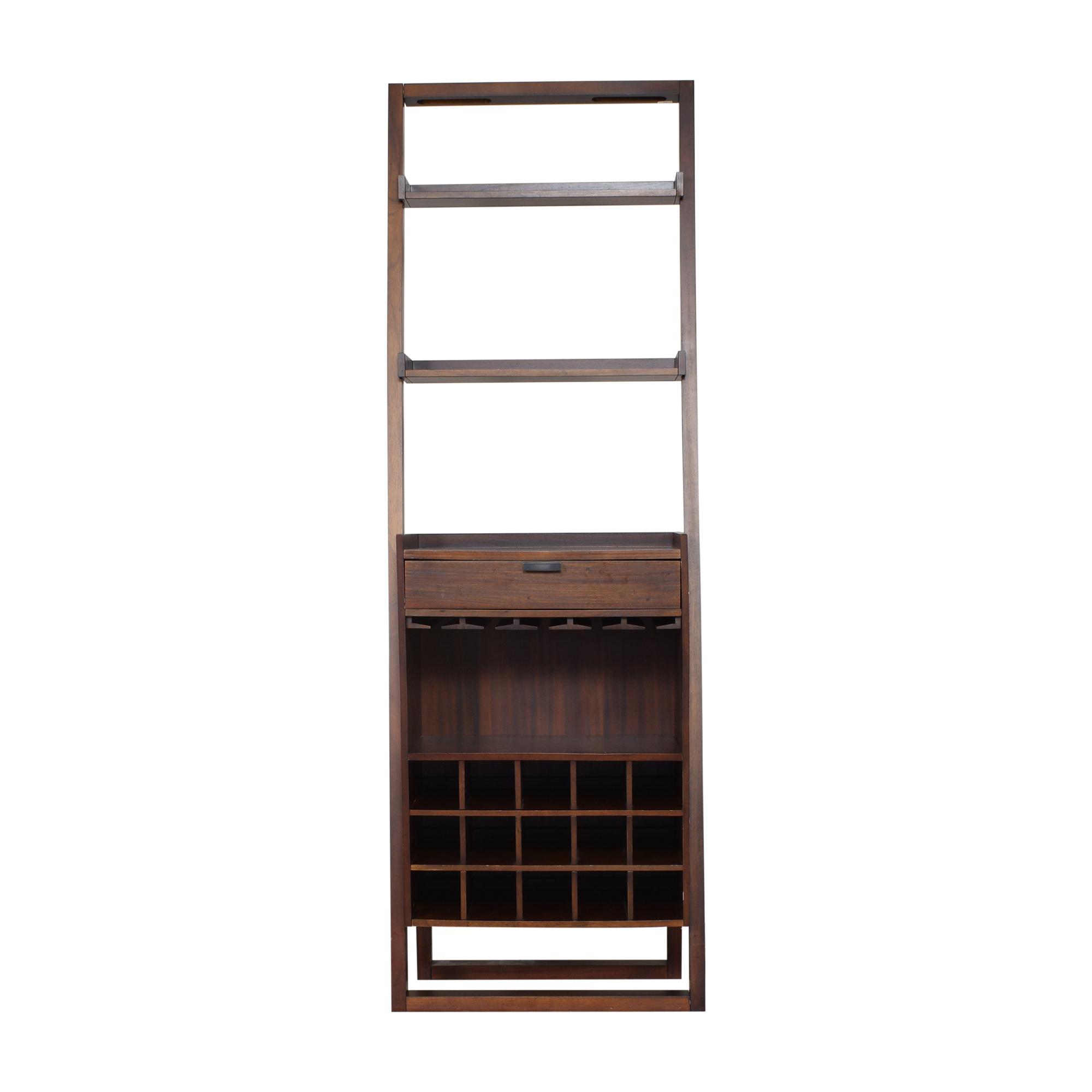 shop Crate & Barrel Sloane Leaning Wine Bar Crate & Barrel Bookcases & Shelving