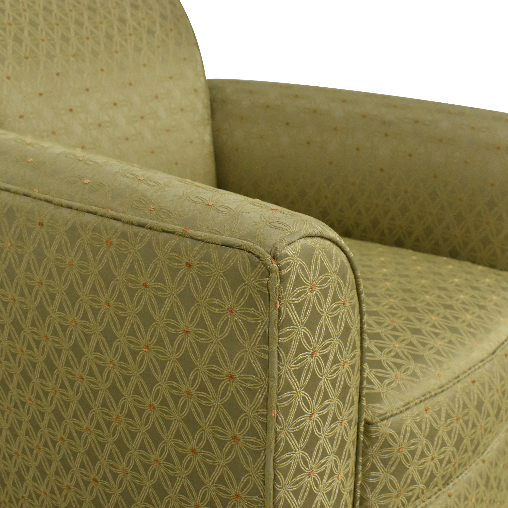 Patterned Accent Armchair for sale