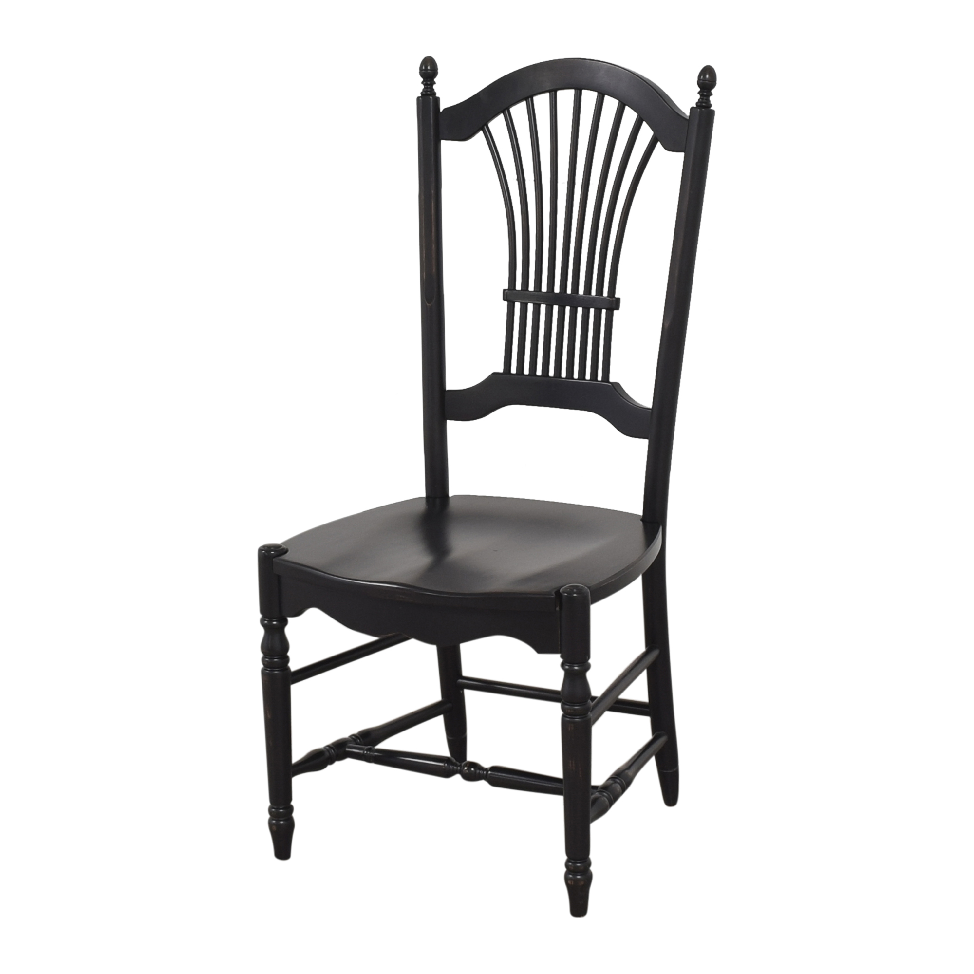 Shaker-Style Wheat Back Dining Side Chairs black