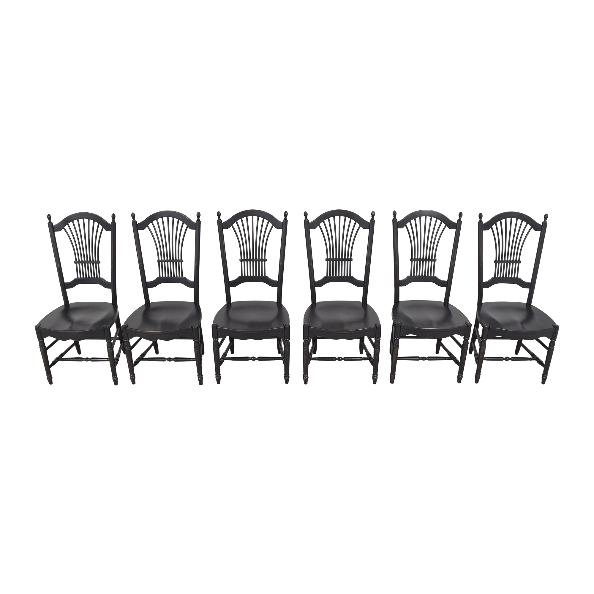 Shaker-Style Wheat Back Dining Side Chairs / Chairs