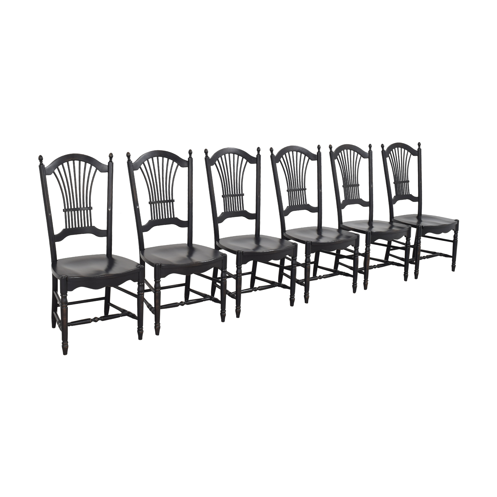 Shaker-Style Wheat Back Dining Side Chairs nyc