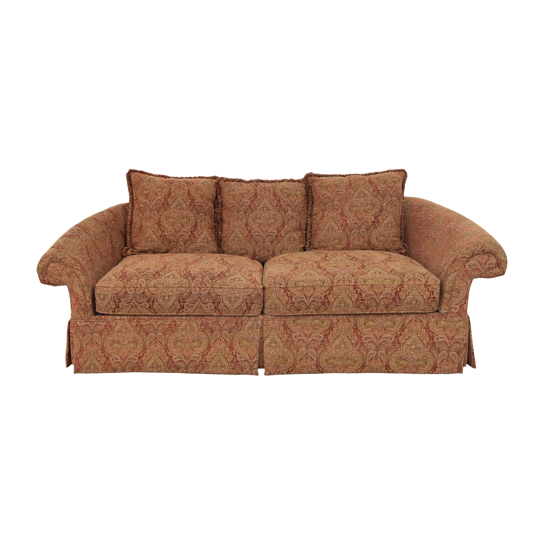 Raymour & Flanigan Raymour & Flanigan Damask Skirted Sofa multi