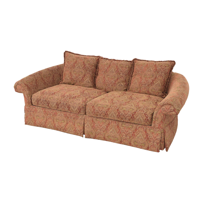 Raymour & Flanigan Raymour & Flanigan Damask Skirted Sofa on sale