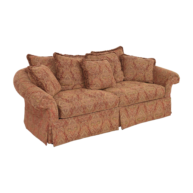 Raymour & Flanigan Raymour & Flanigan Damask Skirted Sofa ct