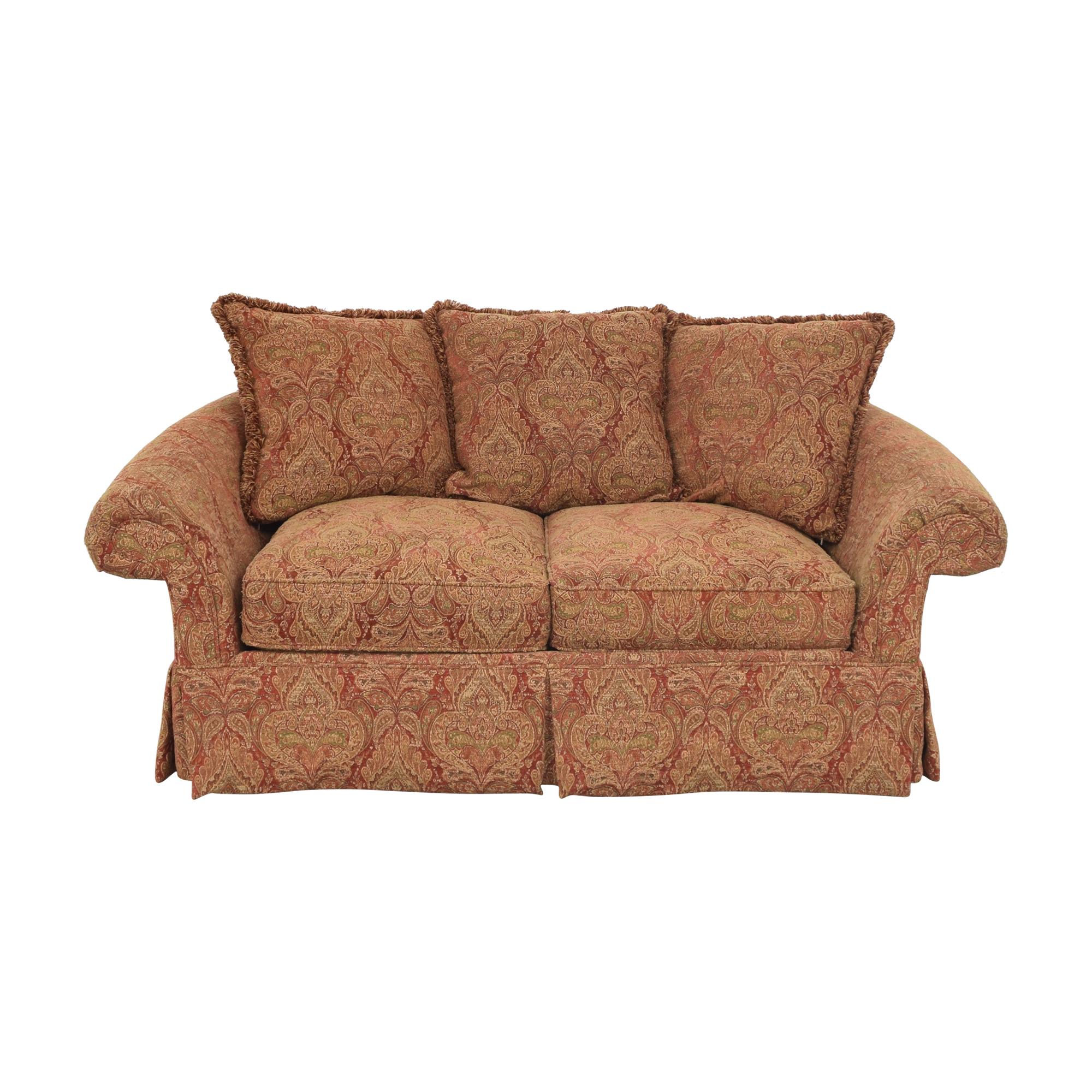 Raymour & Flanigan Raymour & Flanigan Two Cushion Skirted Sofa nj