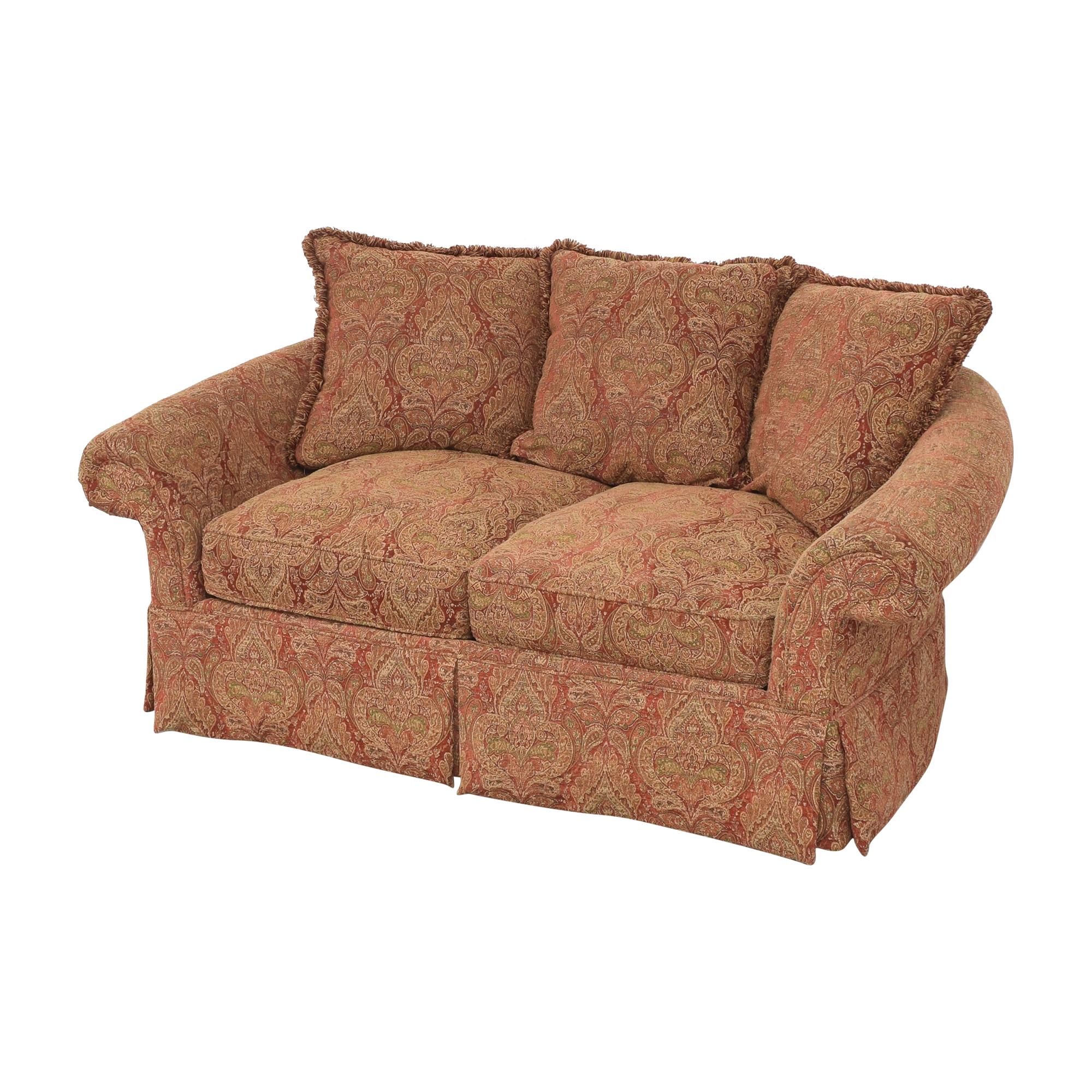 Raymour & Flanigan Raymour & Flanigan Two Cushion Skirted Sofa for sale