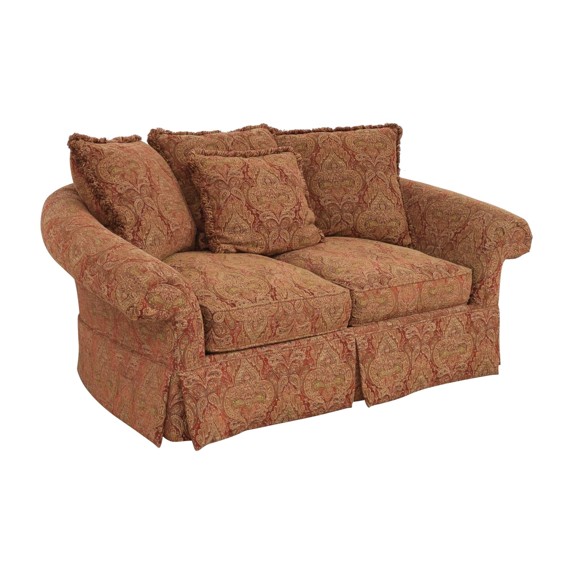 buy Raymour & Flanigan Two Cushion Skirted Sofa Raymour & Flanigan Sofas