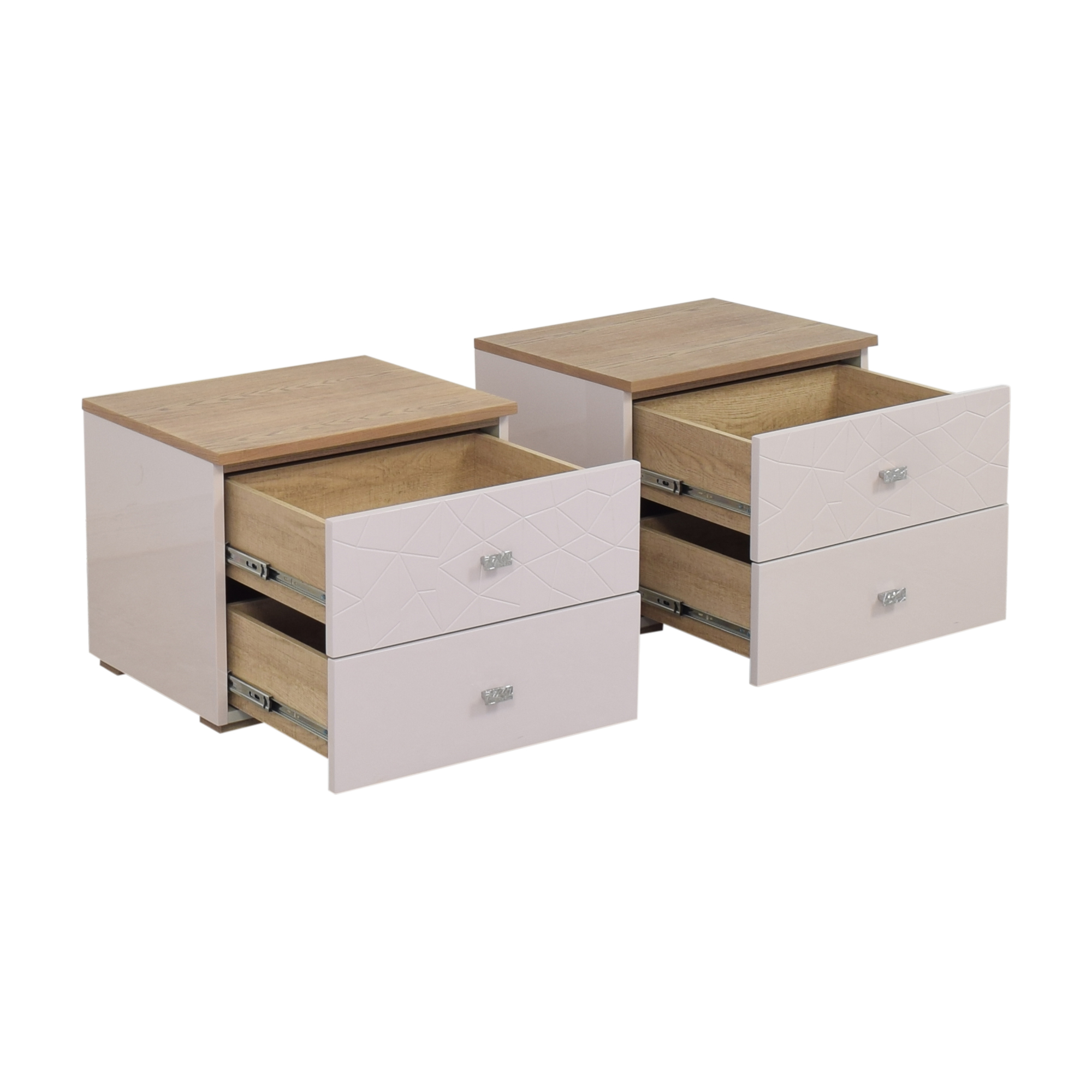 buy Modern Two Drawer Nightstands  Tables