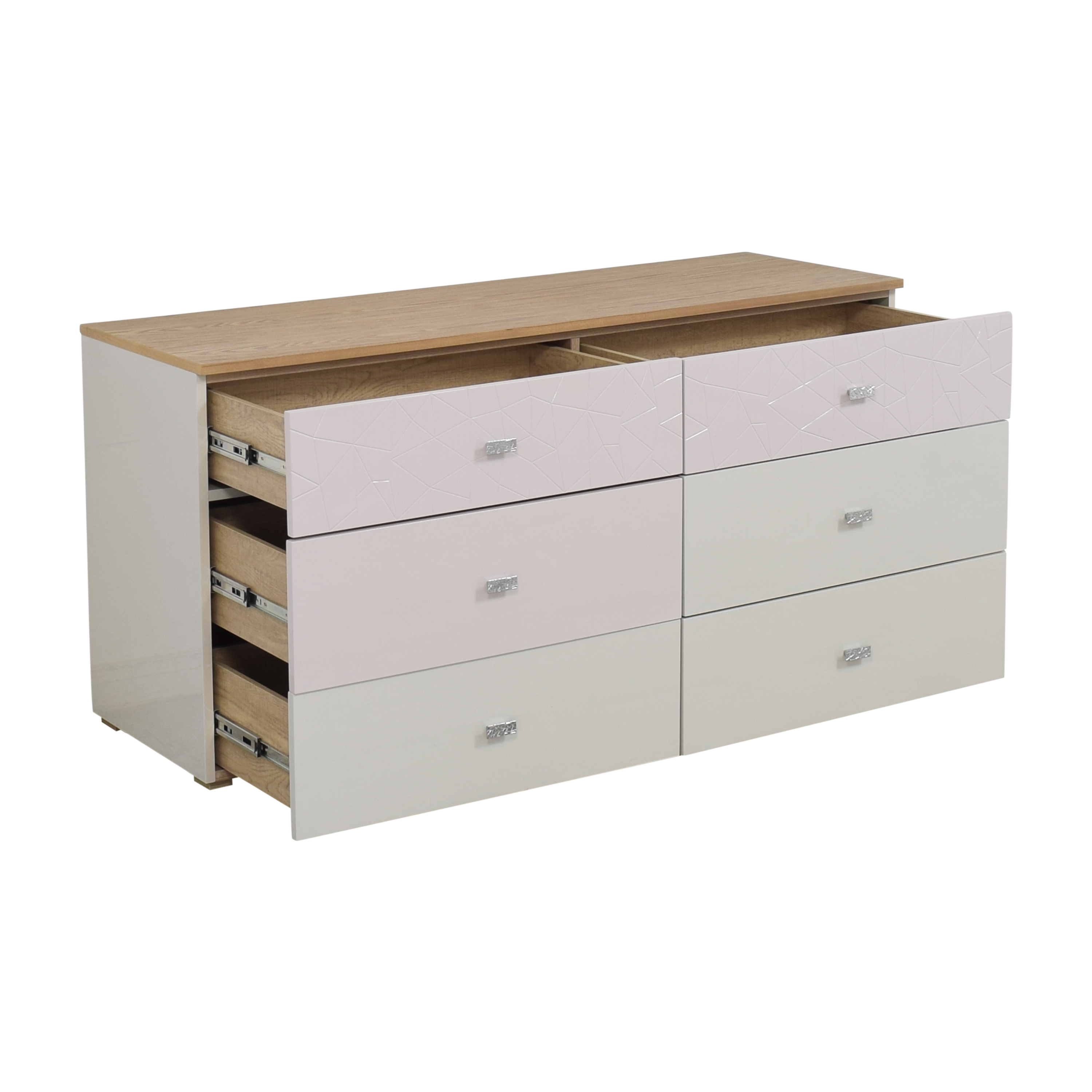 Modern Six Drawer Double Dresser ct